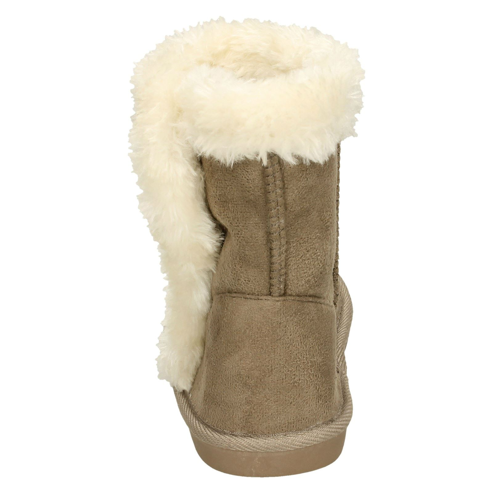 Spot On Girls Fur Trim Ankle Boots