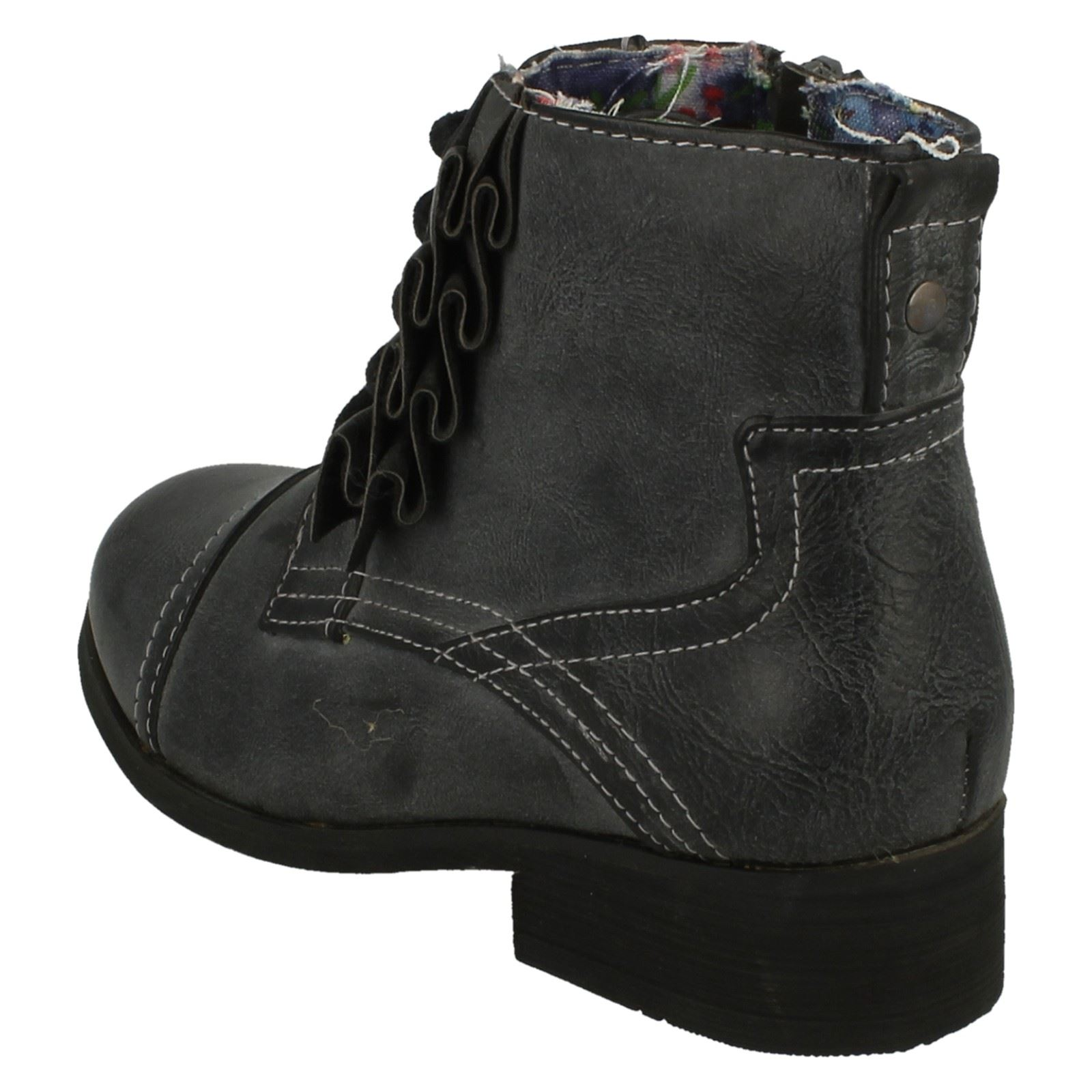 Girls Cutie Block Heeled Ankle Boots H4R061