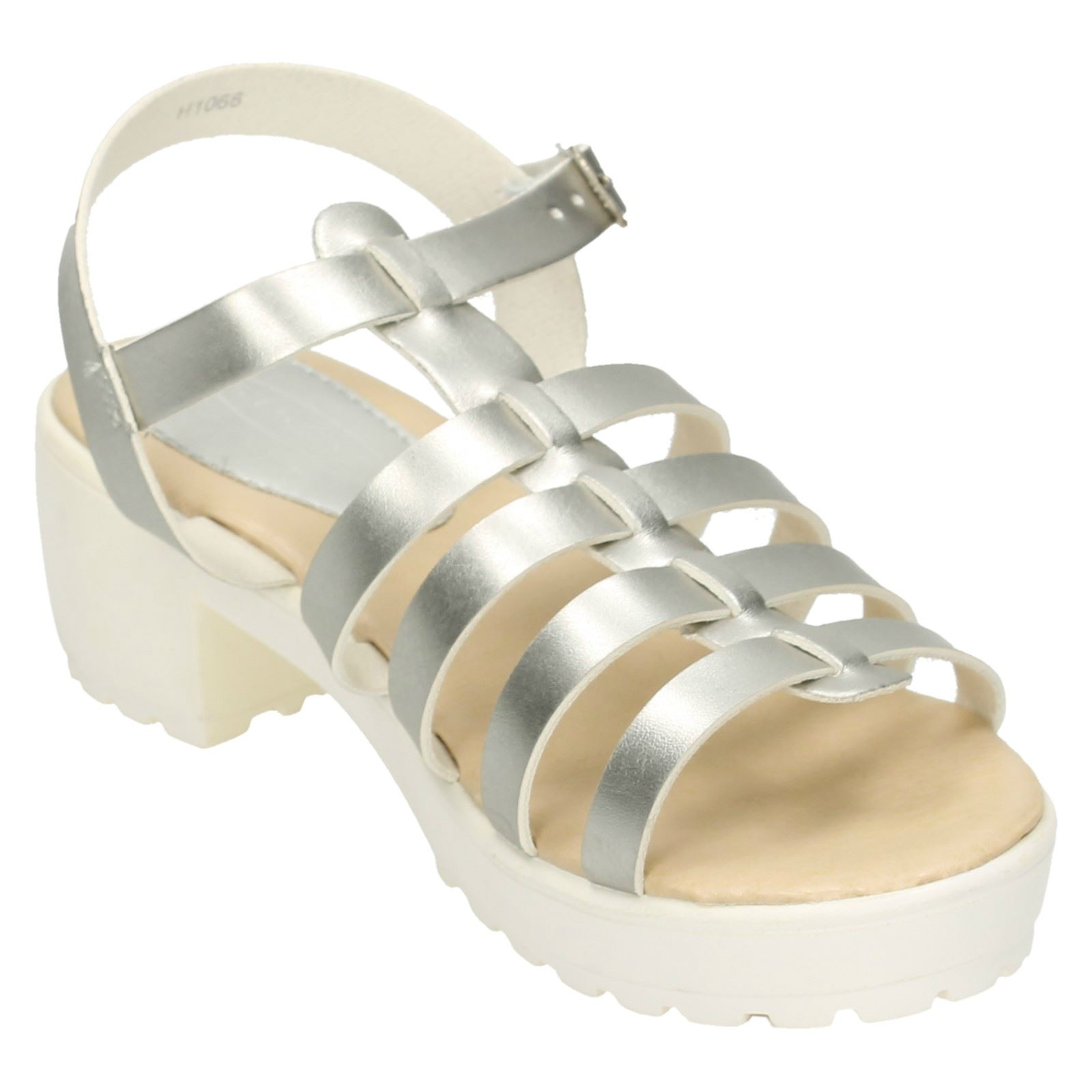 Girls Spot On Chunky Heeled Retro Sandals