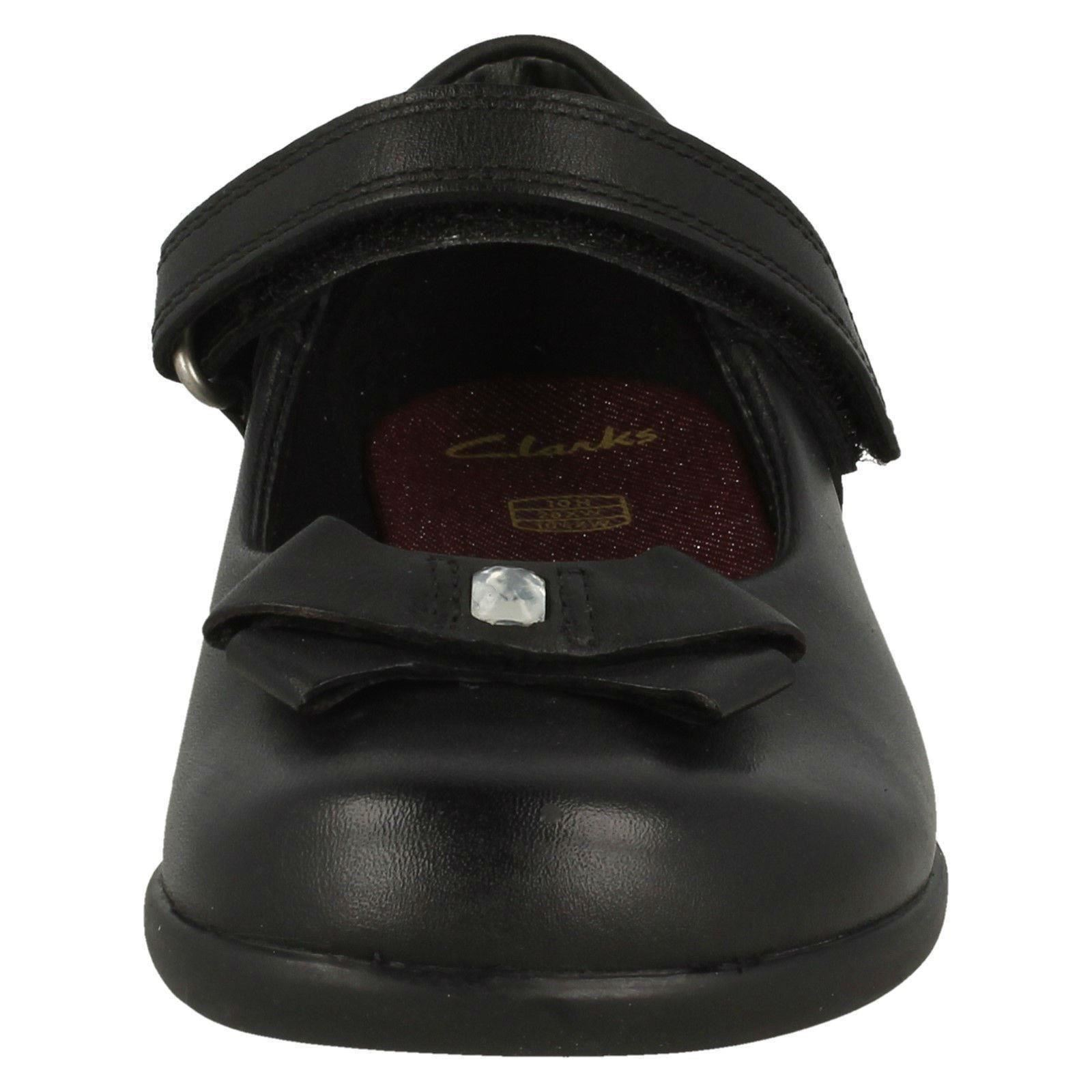 Girls Clarks Bow Detail School Shoes /'Prime Skip/'