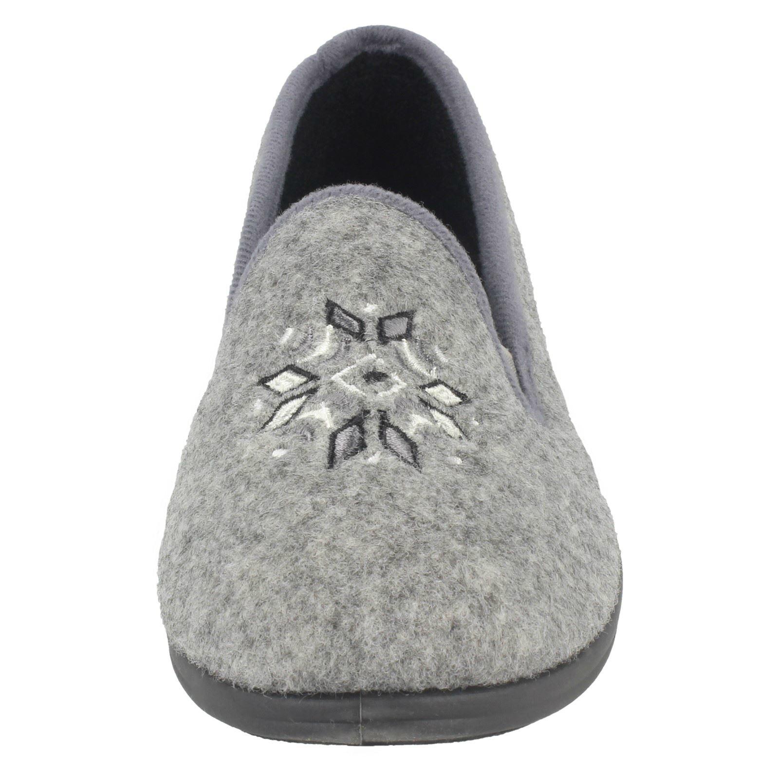 Femmes Clarks Pantoufles de flocons de neige détail Marsha Rose