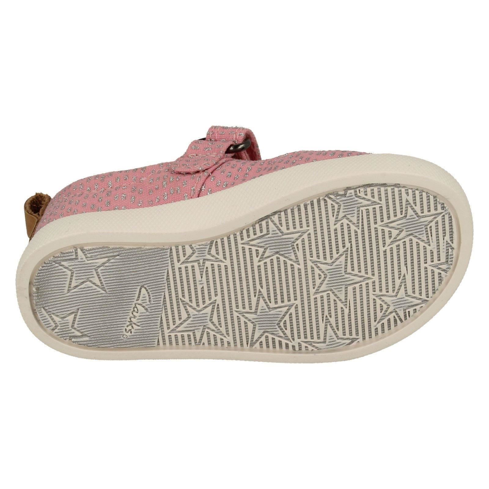 Halcy Wink Girls Clarks Casual Canvas Shoes
