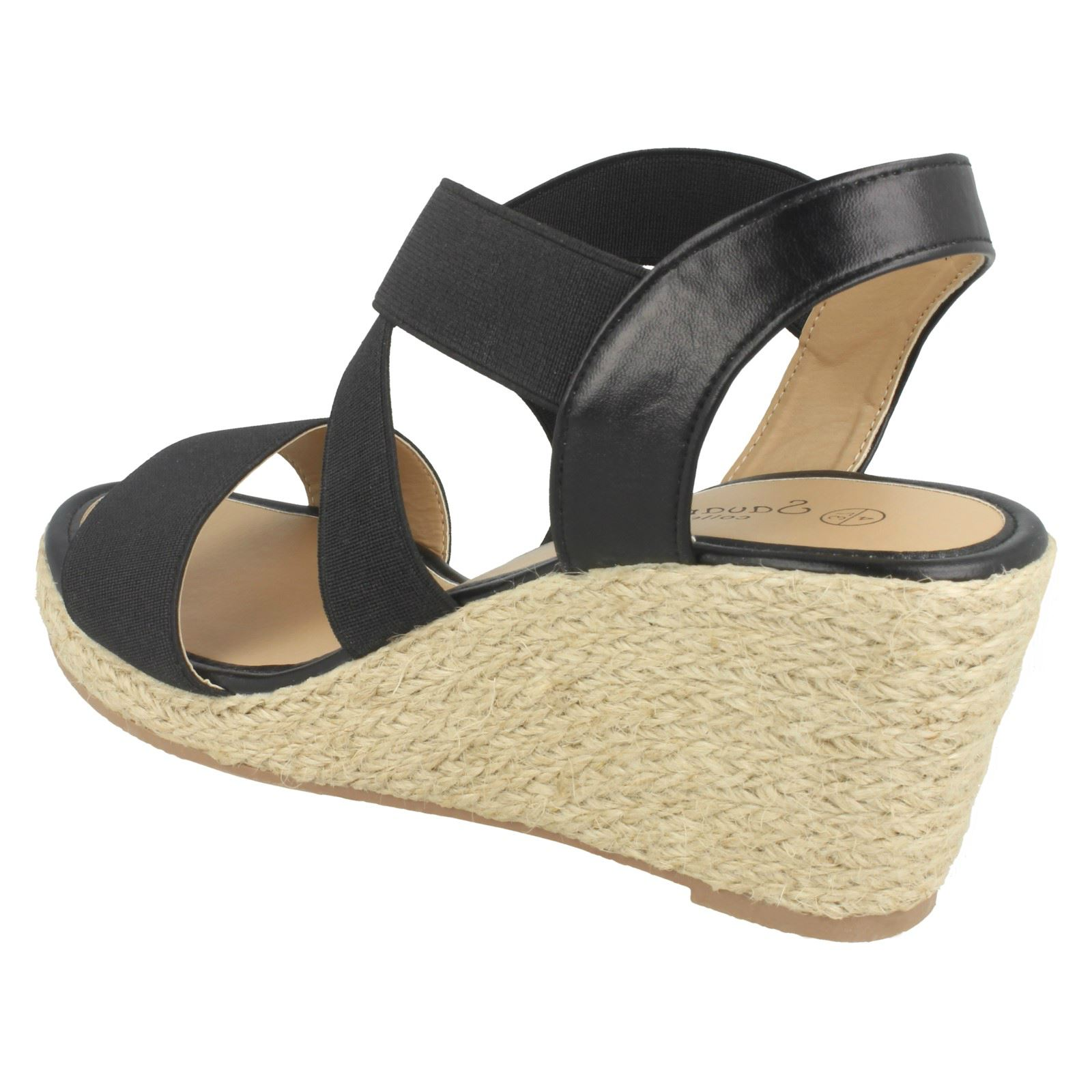 Ladies Savannah High Rope Wedge Sandals F10863