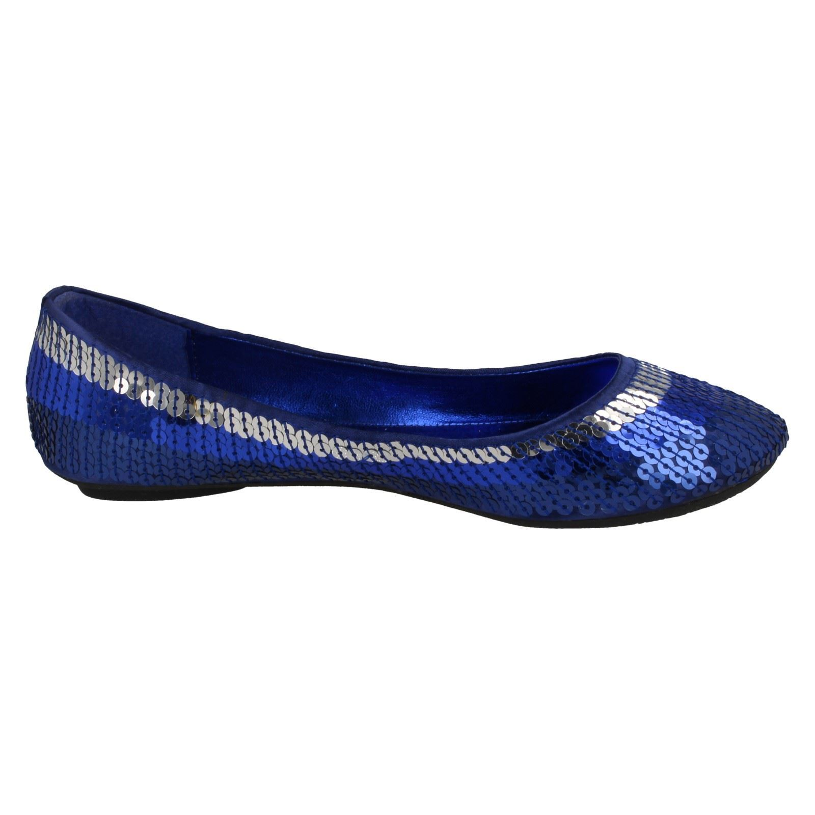 Girls Cutie Flat Slip On Sequin Ballerina /'Shoes/'
