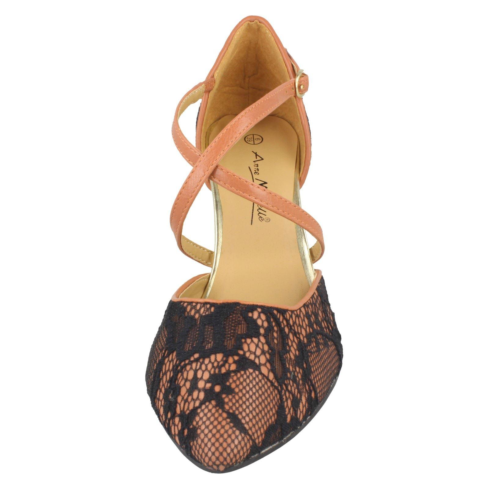 """/""""Femmes Anne Michelle/"""" dentelle motif Cour Chaussures-L2R273"""