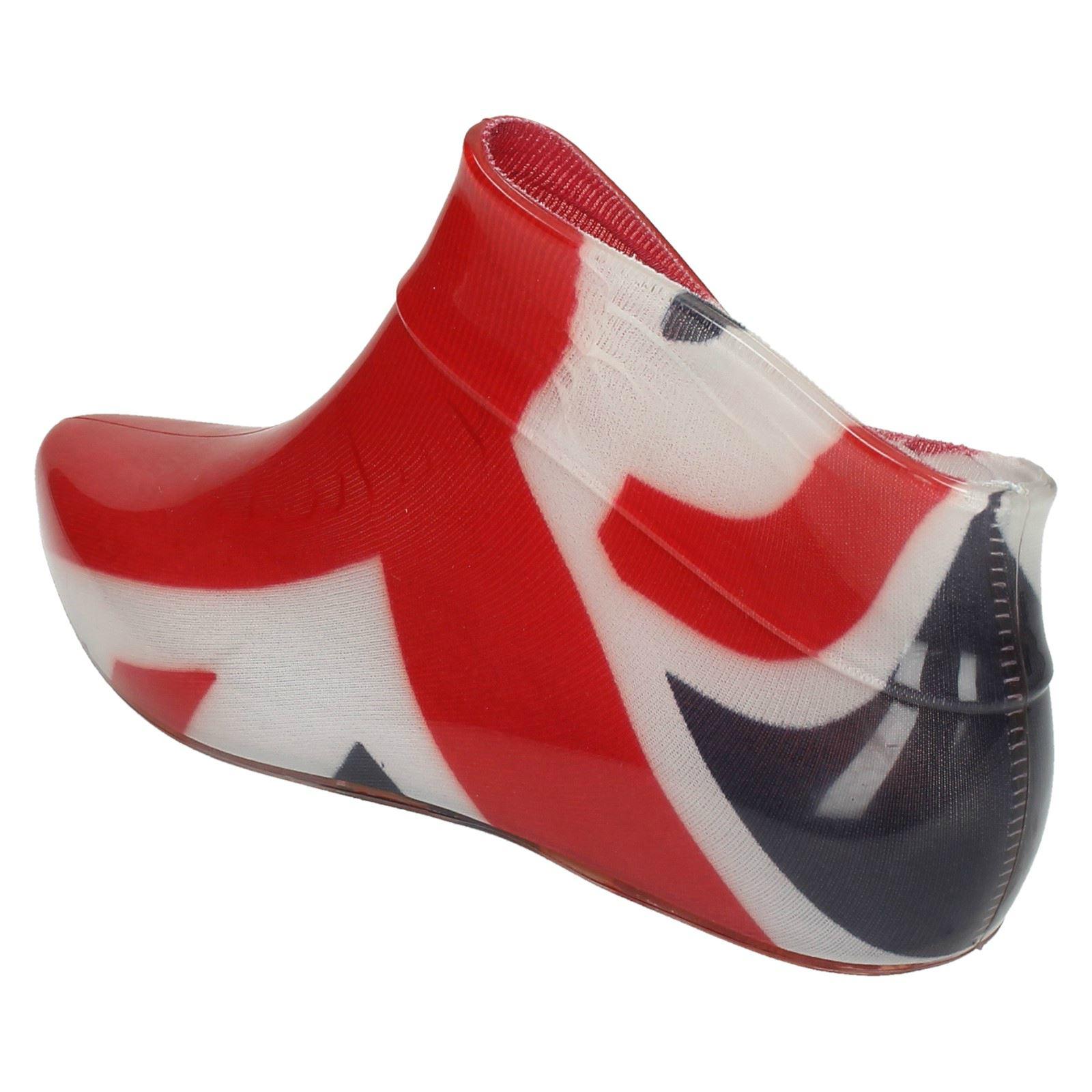Ladies Spot On Pixie Slip On Synthetic Style Ankle Wellington