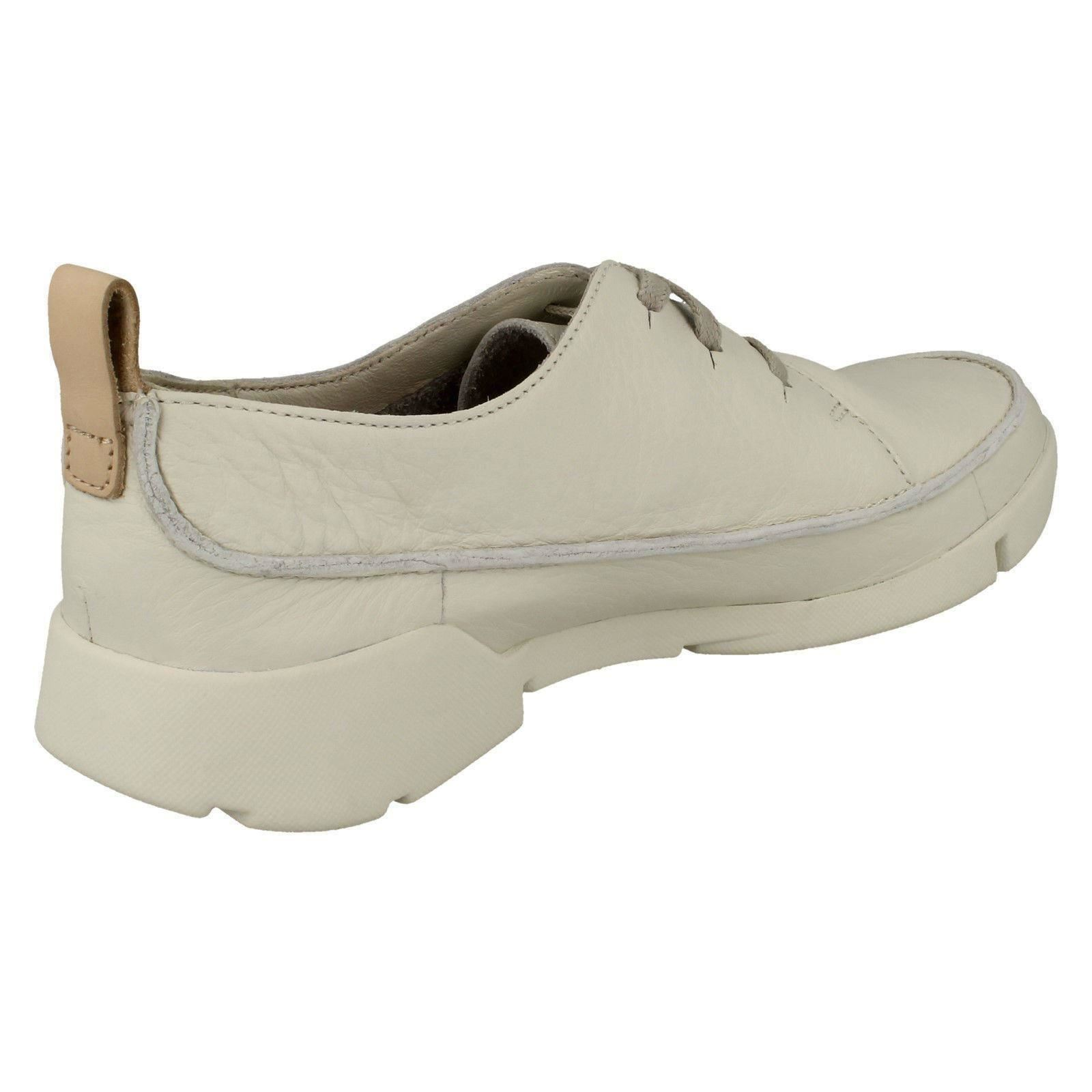 Ladies Clarks Lace Up Casual Trainers Tri Clara