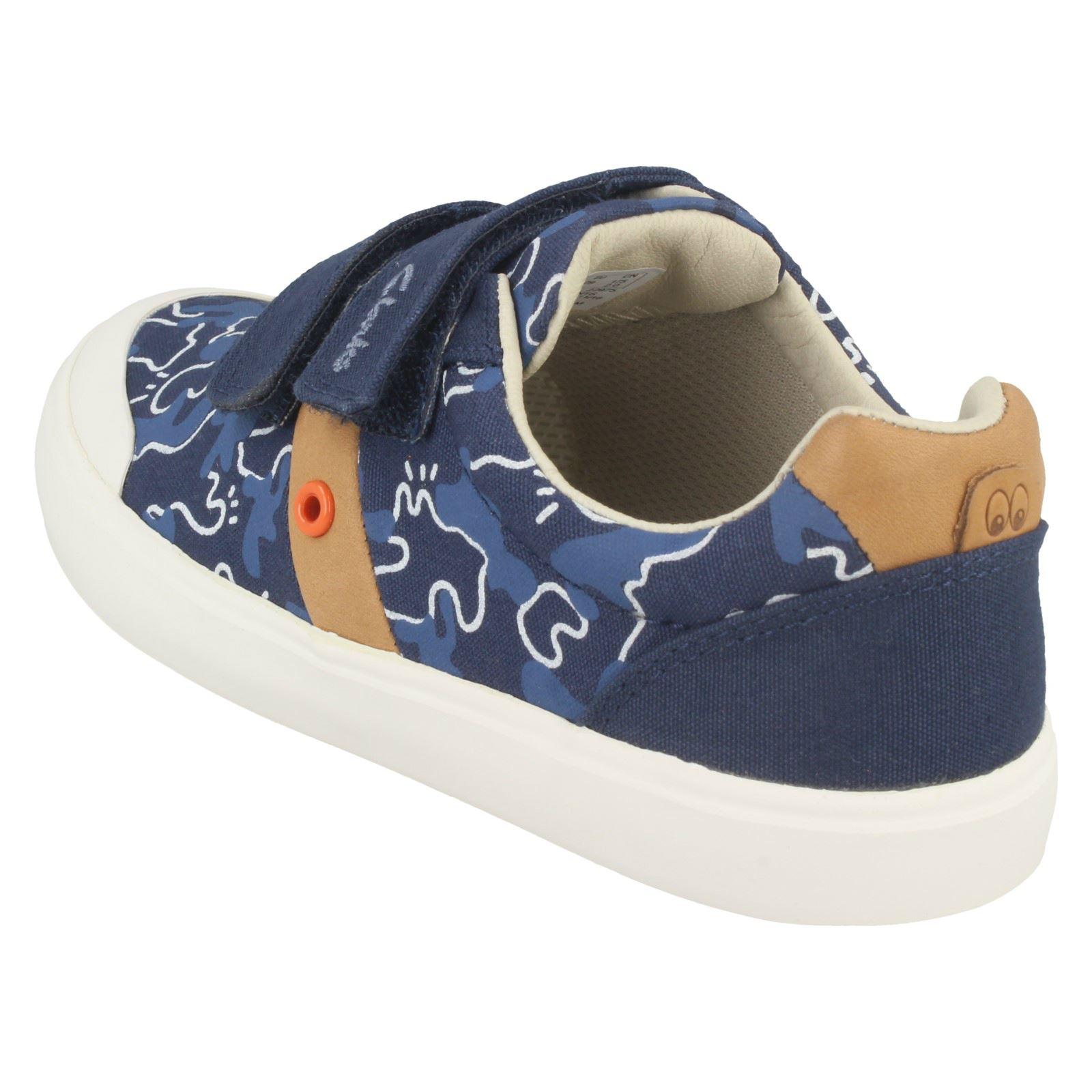 Boys Clarks Comic Zone Canvas Shoes
