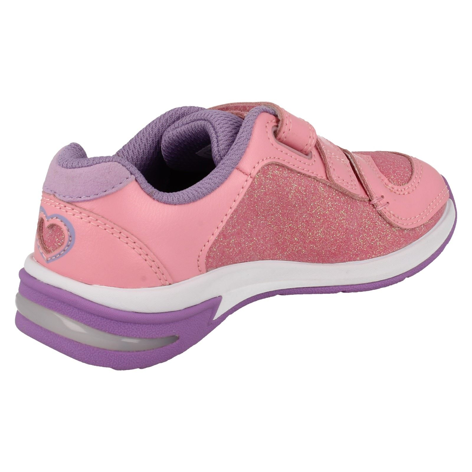Girls Clarks Casual Trainers with Lights /'Piper Chat/'