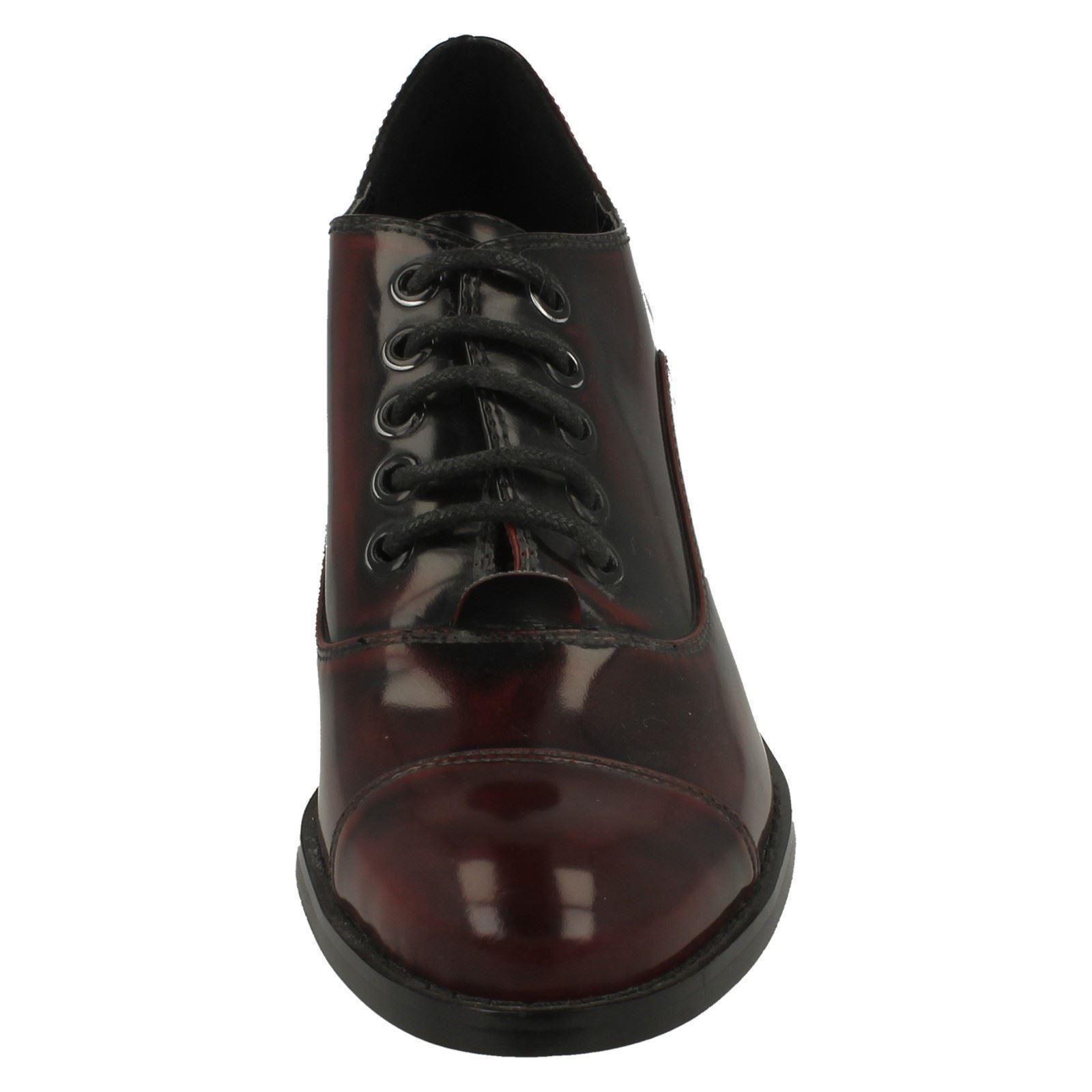 Ladies Spot On Blocked Heel /'Shoes/'