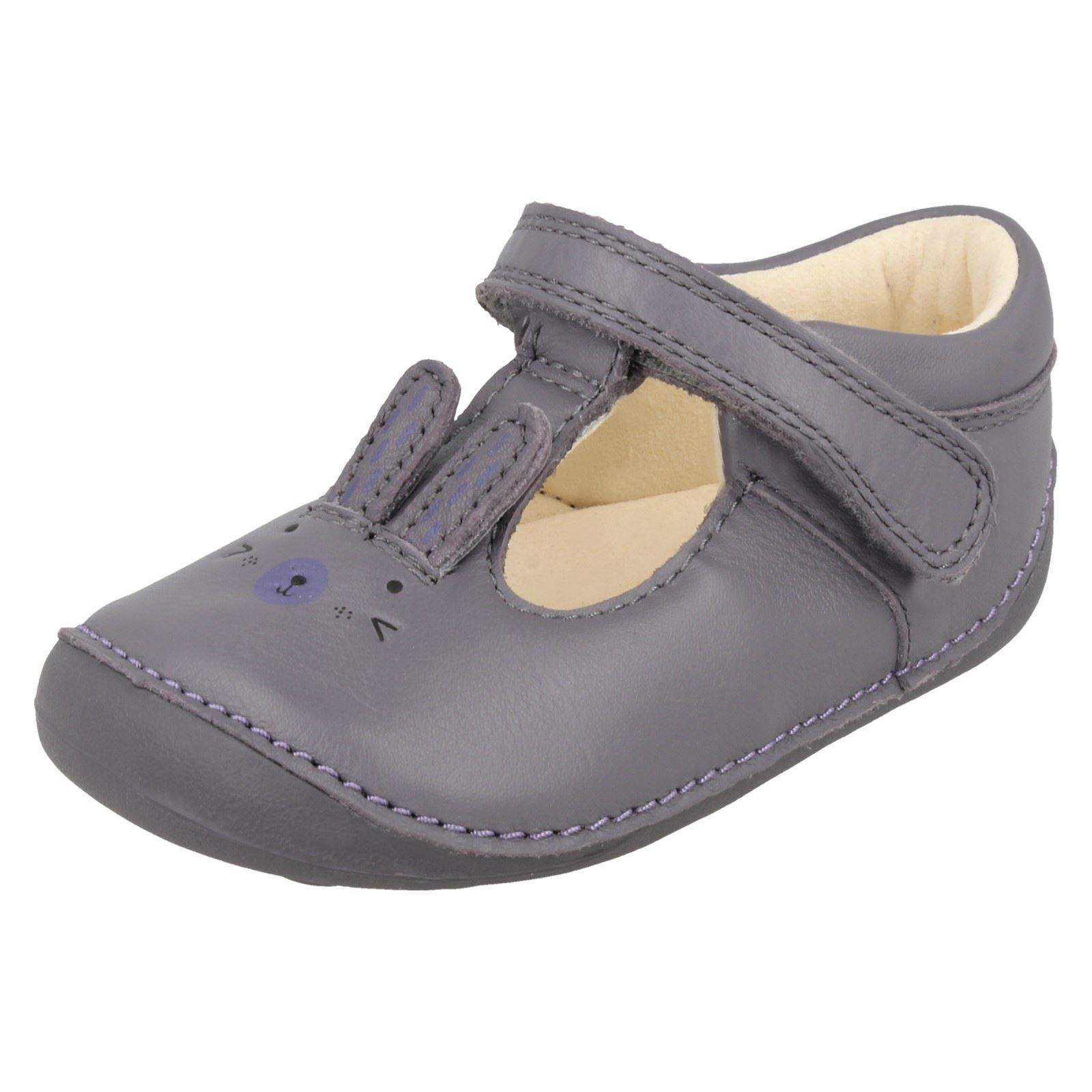 Girls Clarks Little Glo First Shoes With Rabbit Design