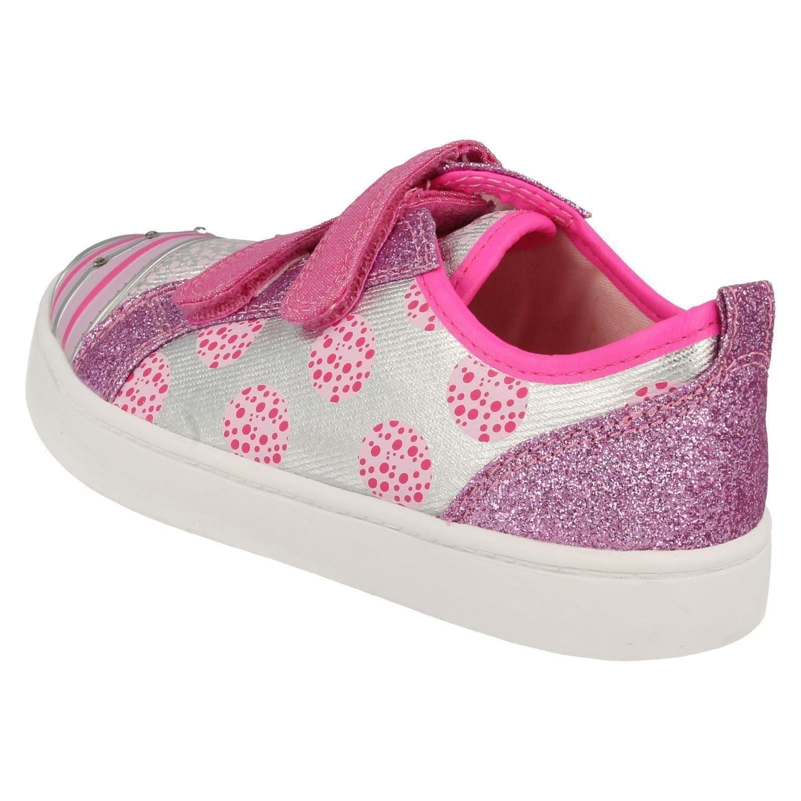 Clarks Girls Casual Canvas Shoes Pattie Jo