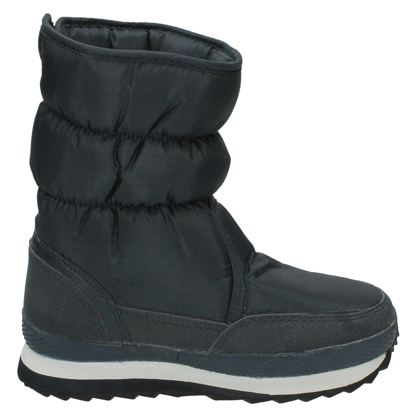 Unisex Childrens Nylon Hook /& Loop Fastened Reflex Snow Boots