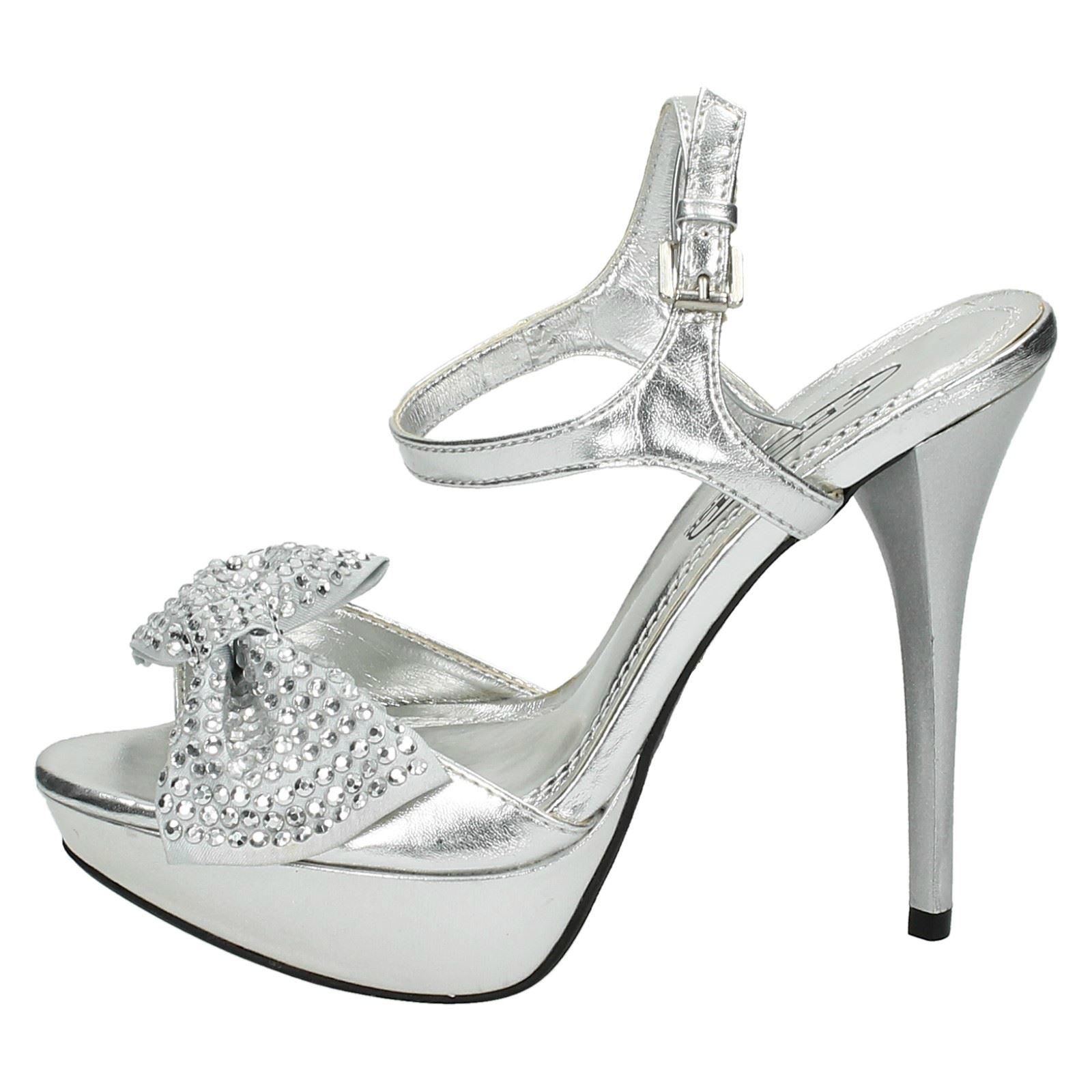 Ladies Spot On Platform High Heels With *Diamante Bow*