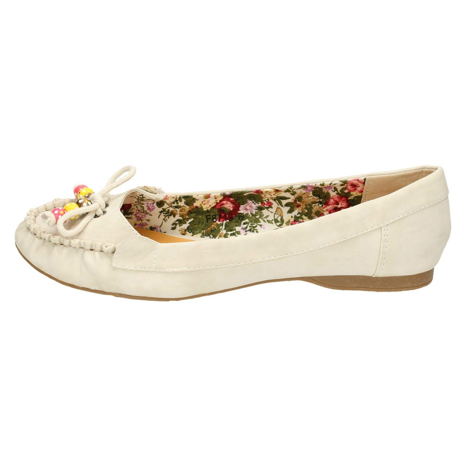Spot on Femmes Plates Ballerine Chaussures