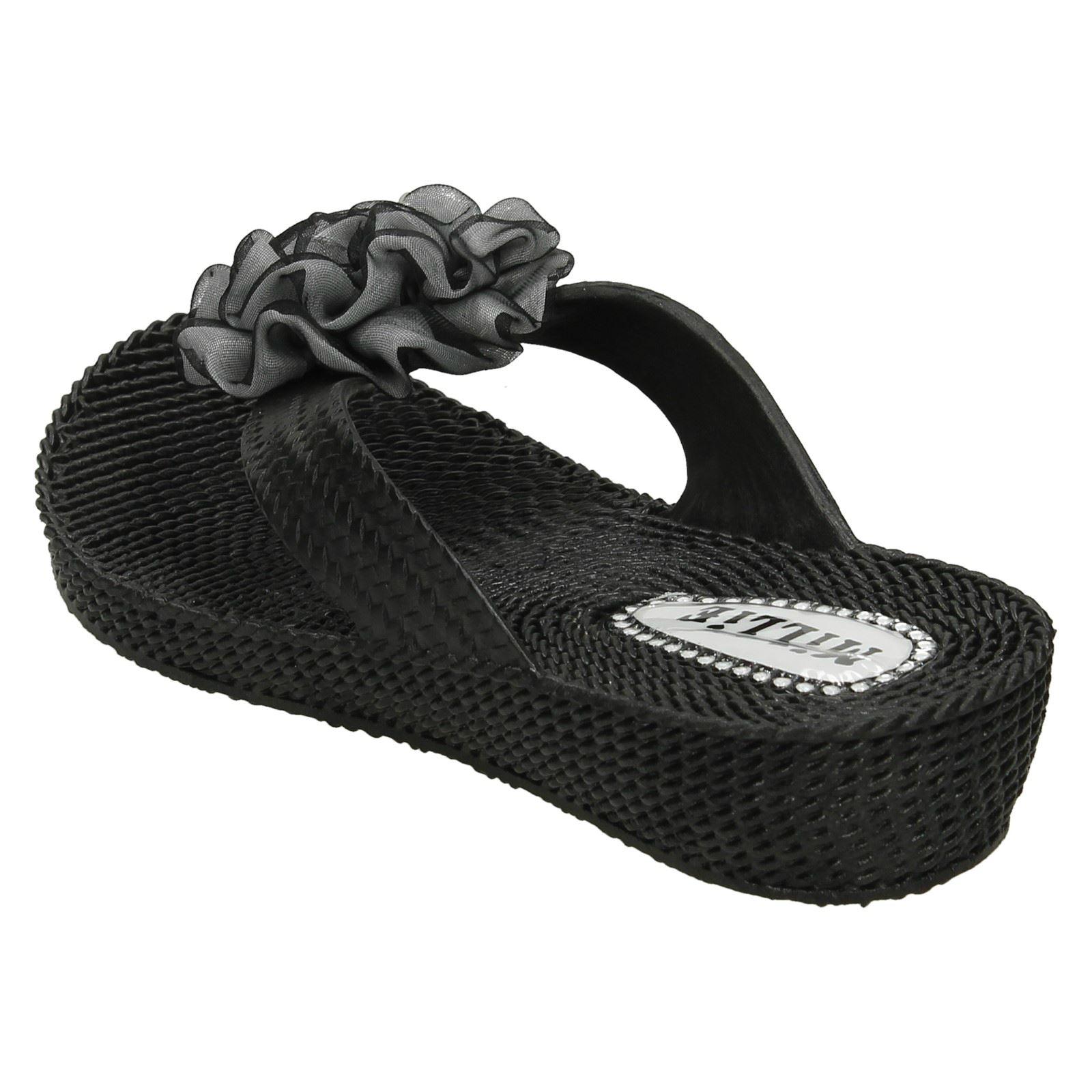 Girls Millie Jelly Style Slip On Toe Post Sandals