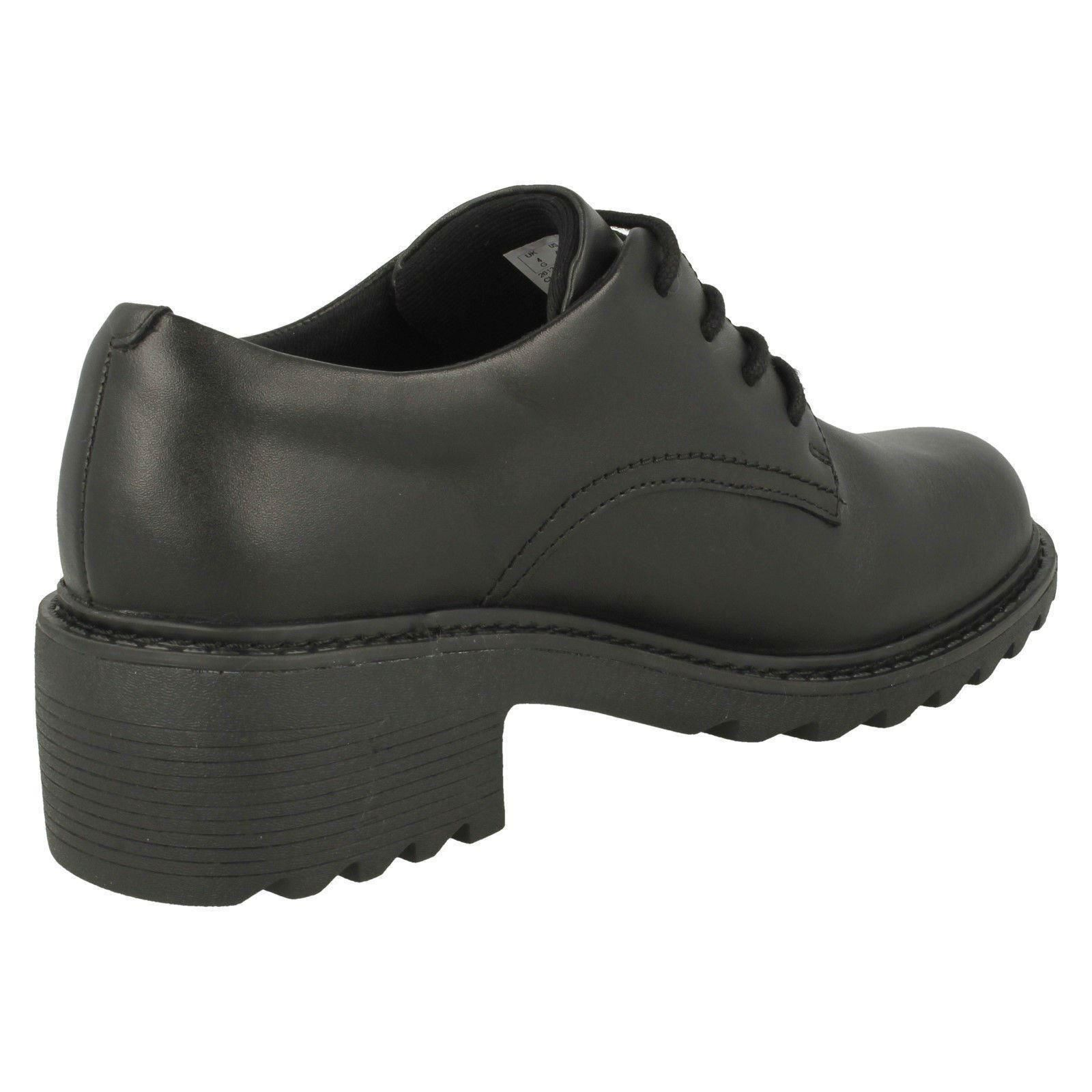 Girls Clarks Chunky Heeled School Shoes /'Frankie Grove/'