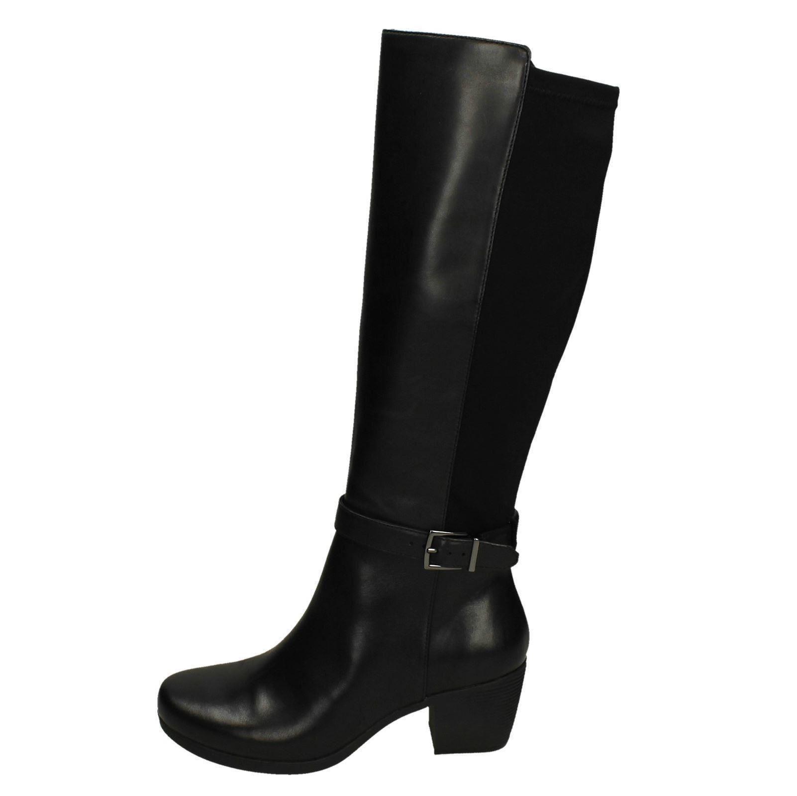 Ladies Clarks Unstructured Zip Boots Un Lindel Hi
