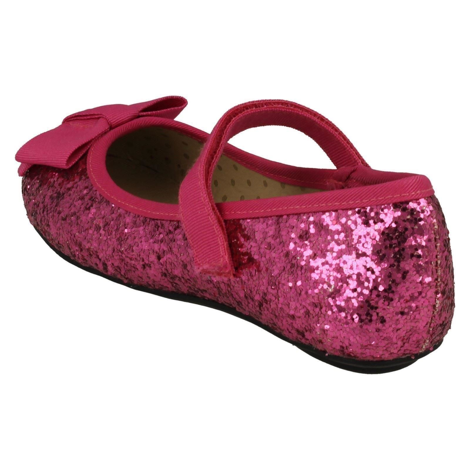 Girls Cutie Flat Glittery Party Shoes
