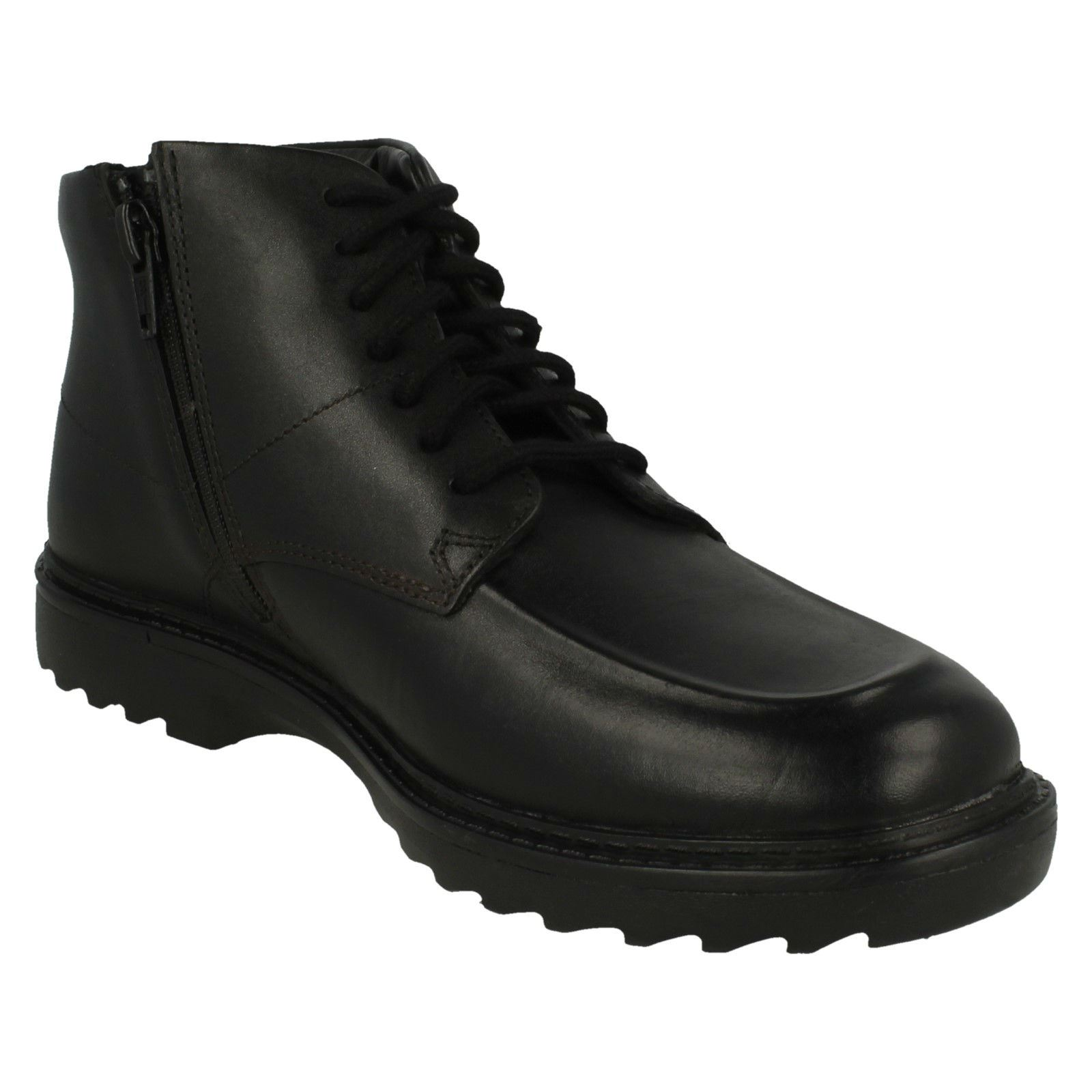 Boys Clarks Smart Lace Up Ankle Boots Asher Street