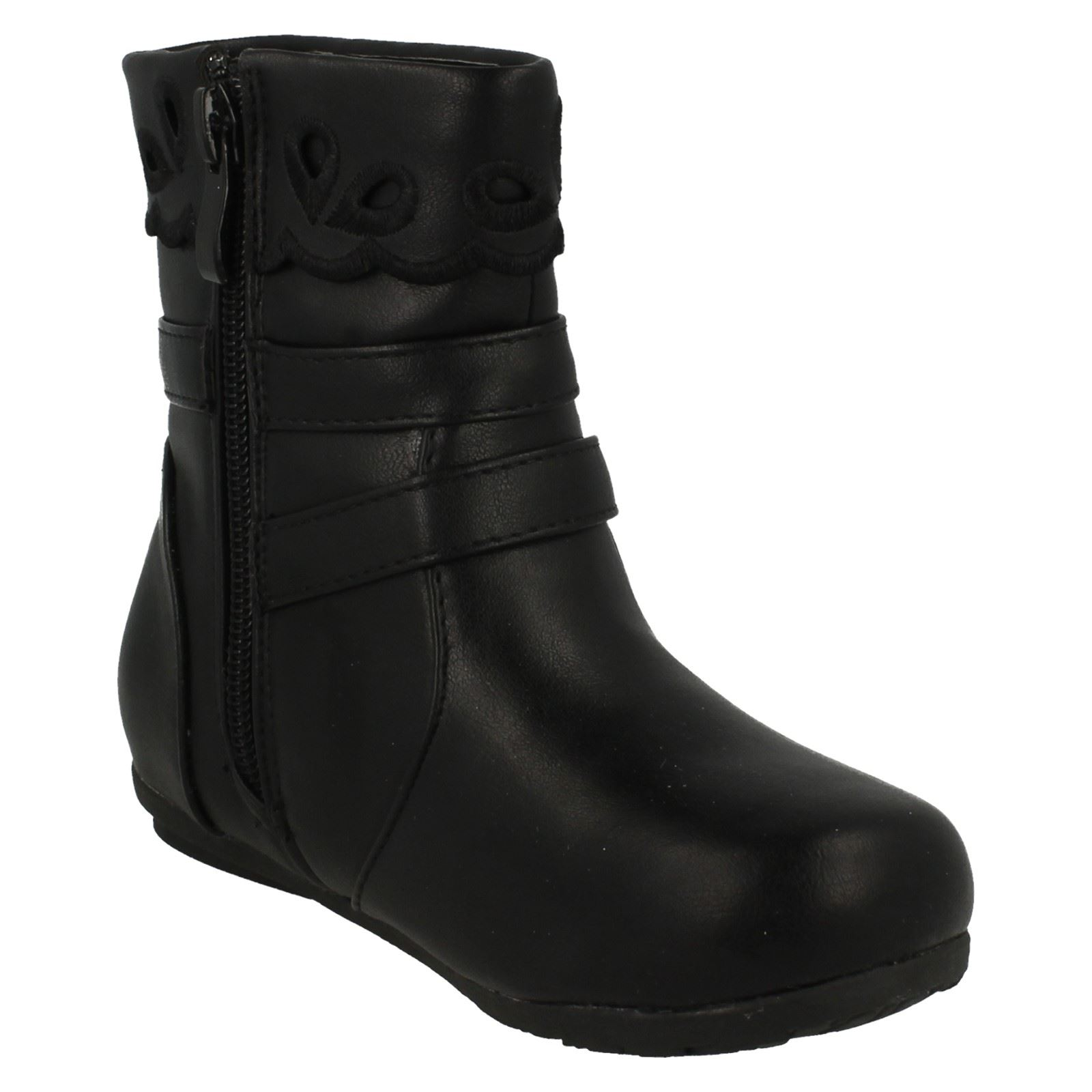 Girls Spot On Ankle Boots with Buckle Detail