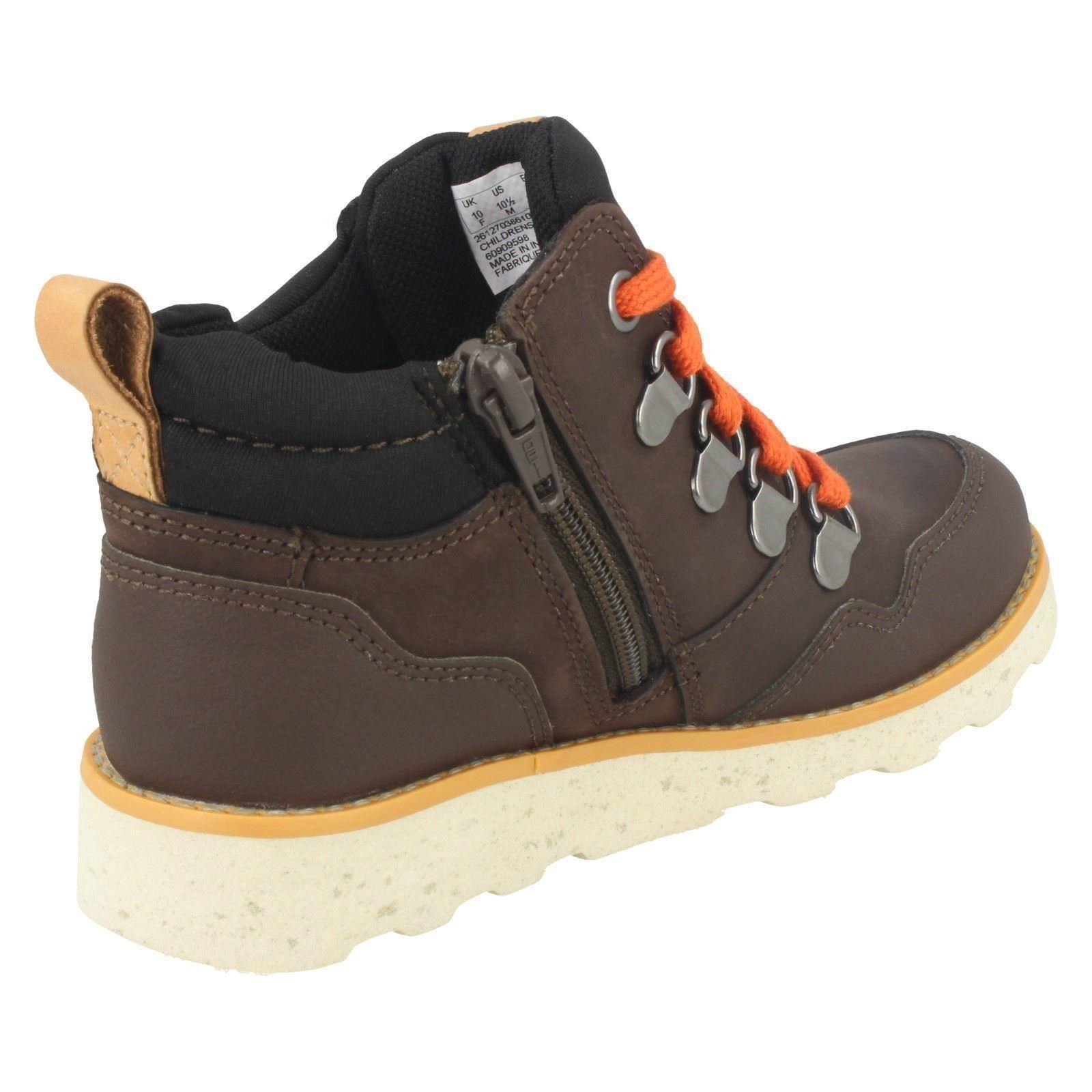 Boys Clarks Casual Ankle Boots Dexy Hi Gtx