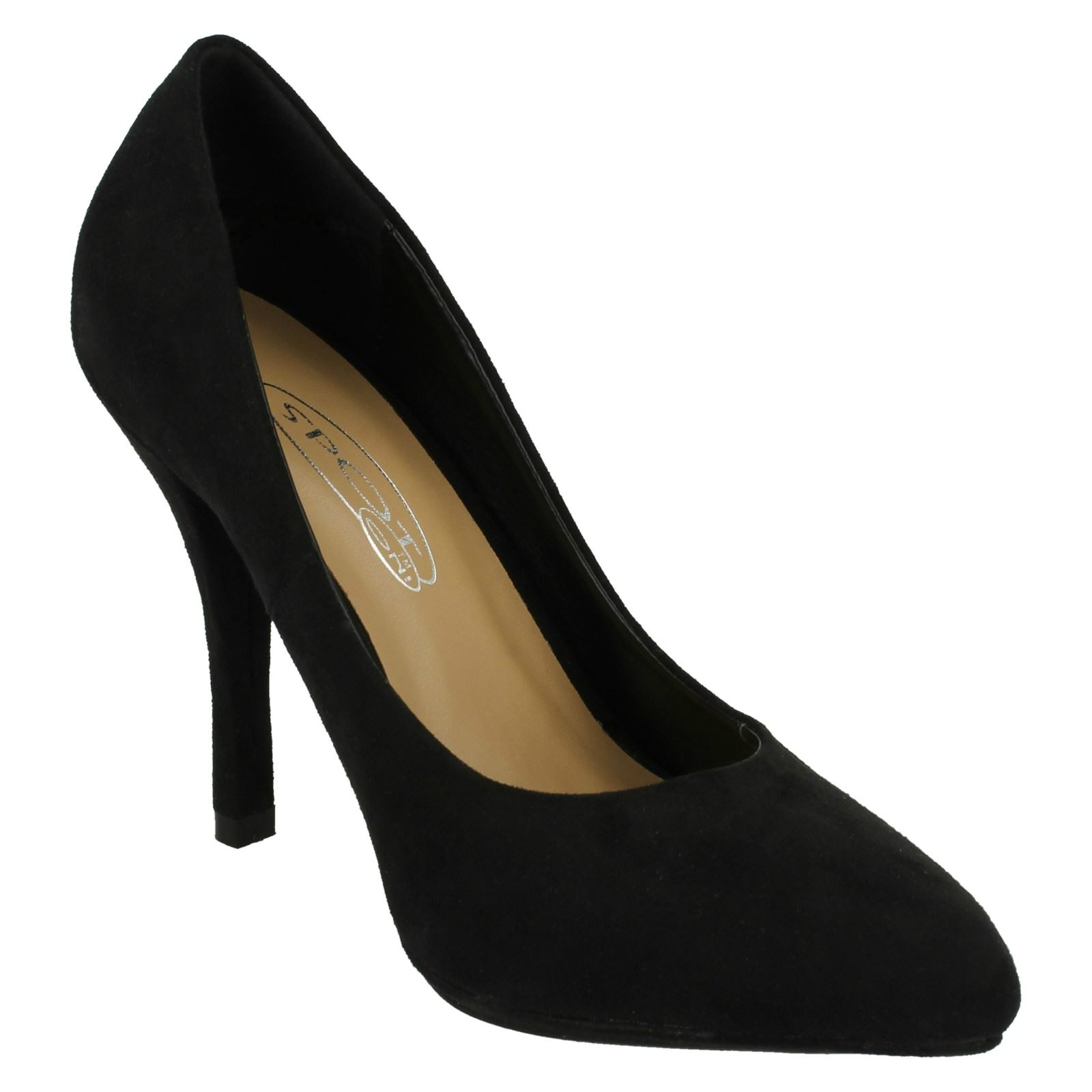 Ladies Spot On High Heel Pointed Toe *Court Shoe*
