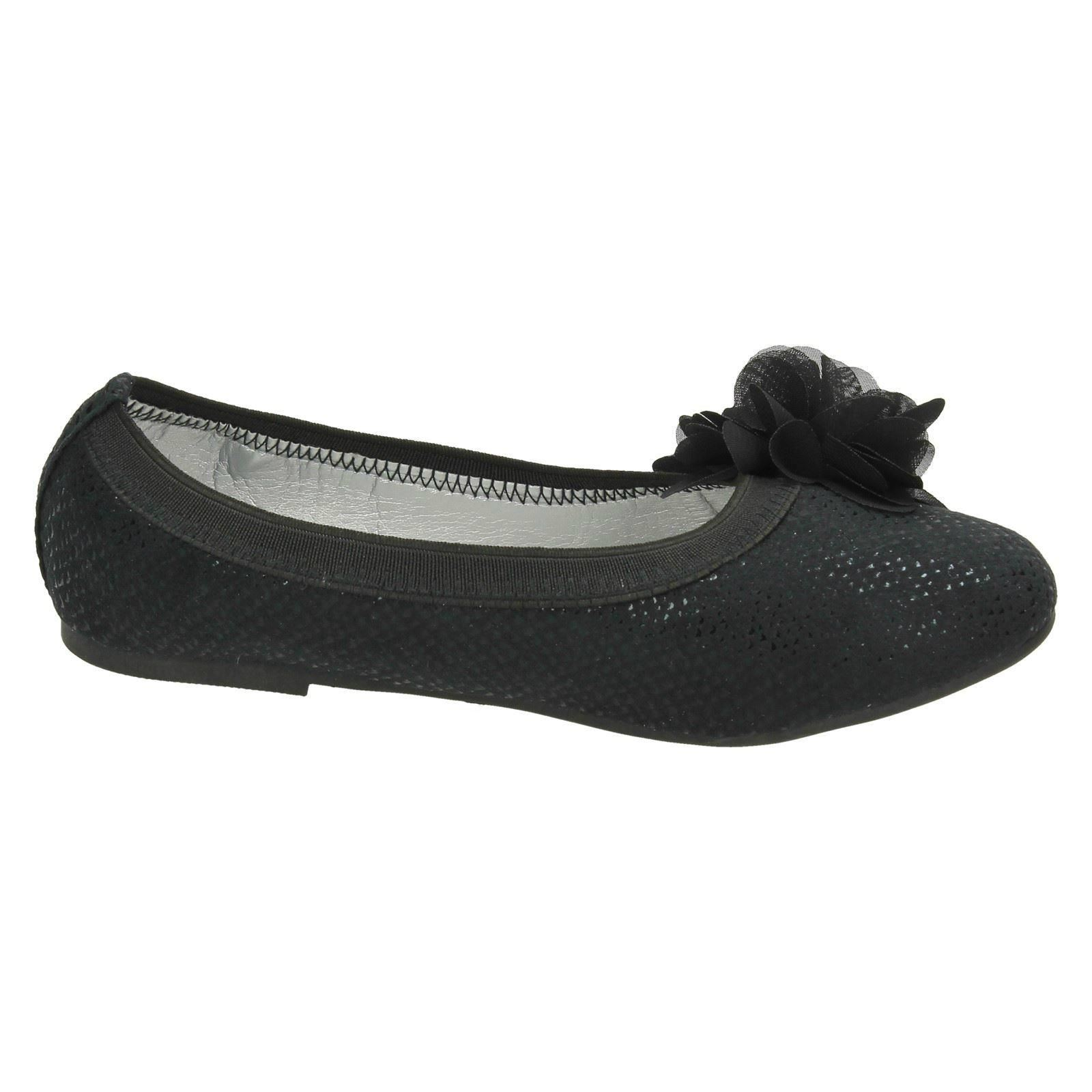 Girls Spot On Flat Slip On Ballerina Shoes