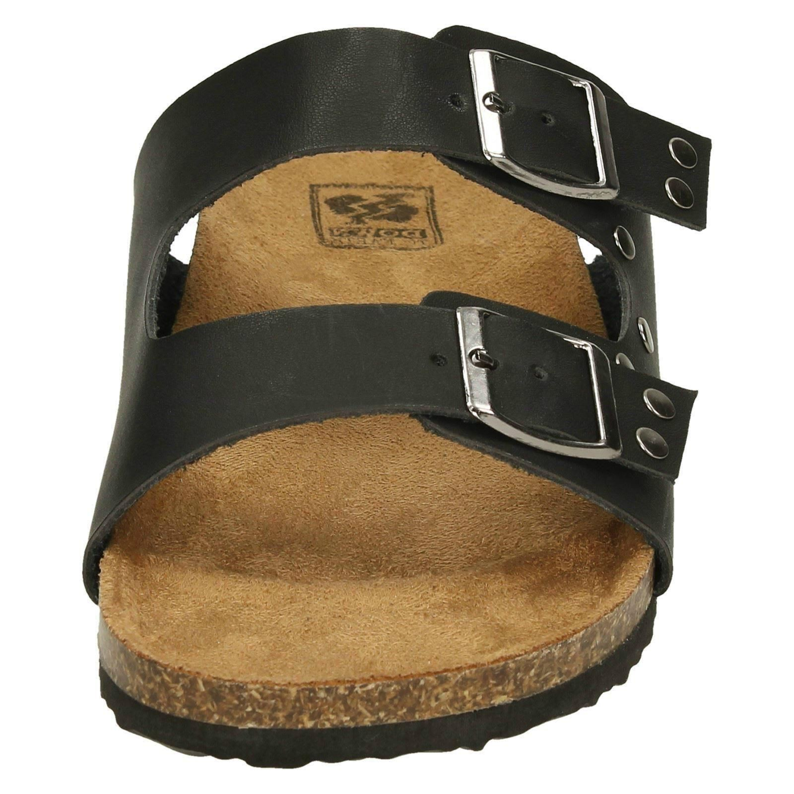 Ladies Down To Earth Strap Sandals Double Buckle