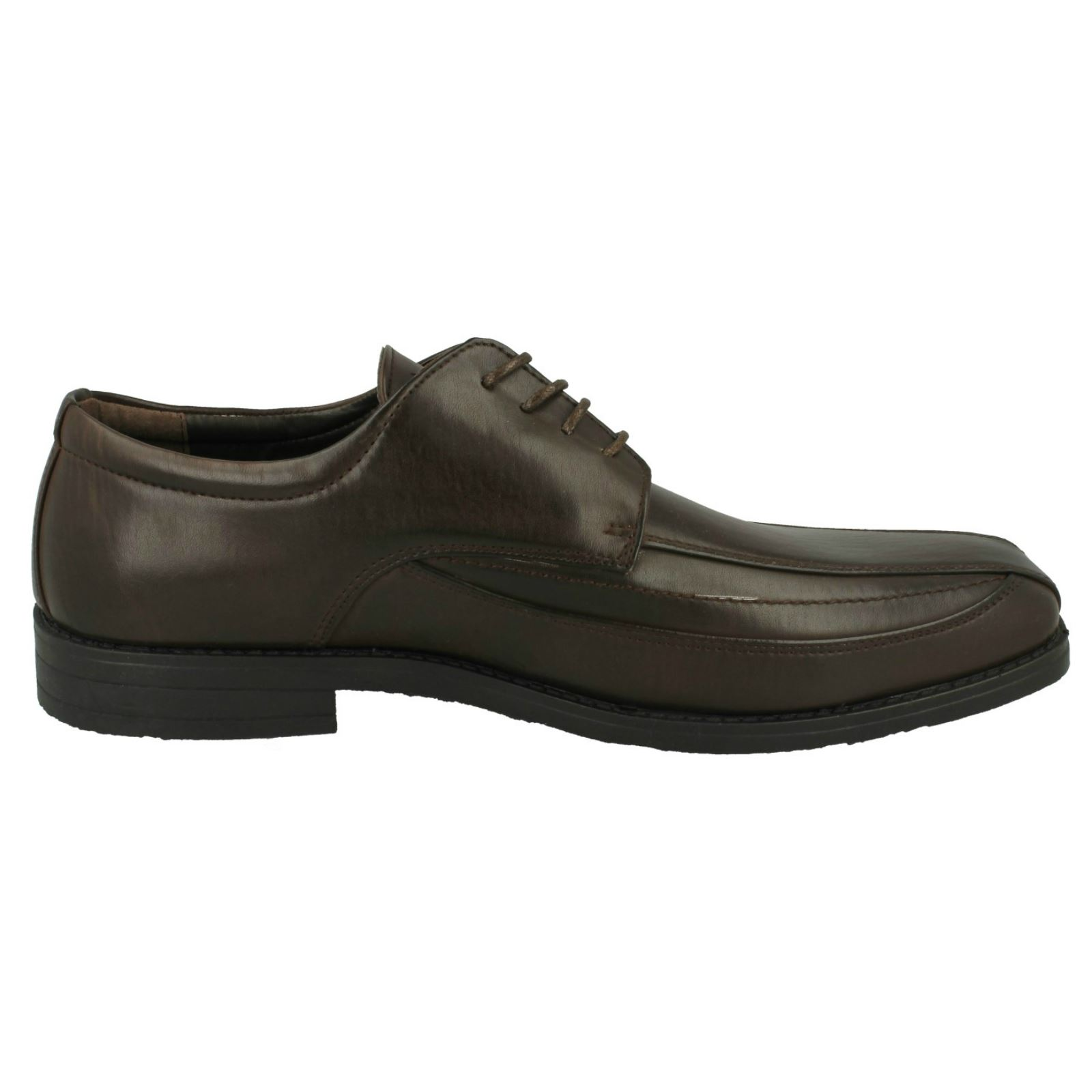 Mens Malvern Squared Toe Formal Heeled Lace Up Synthetic Shoes A2103