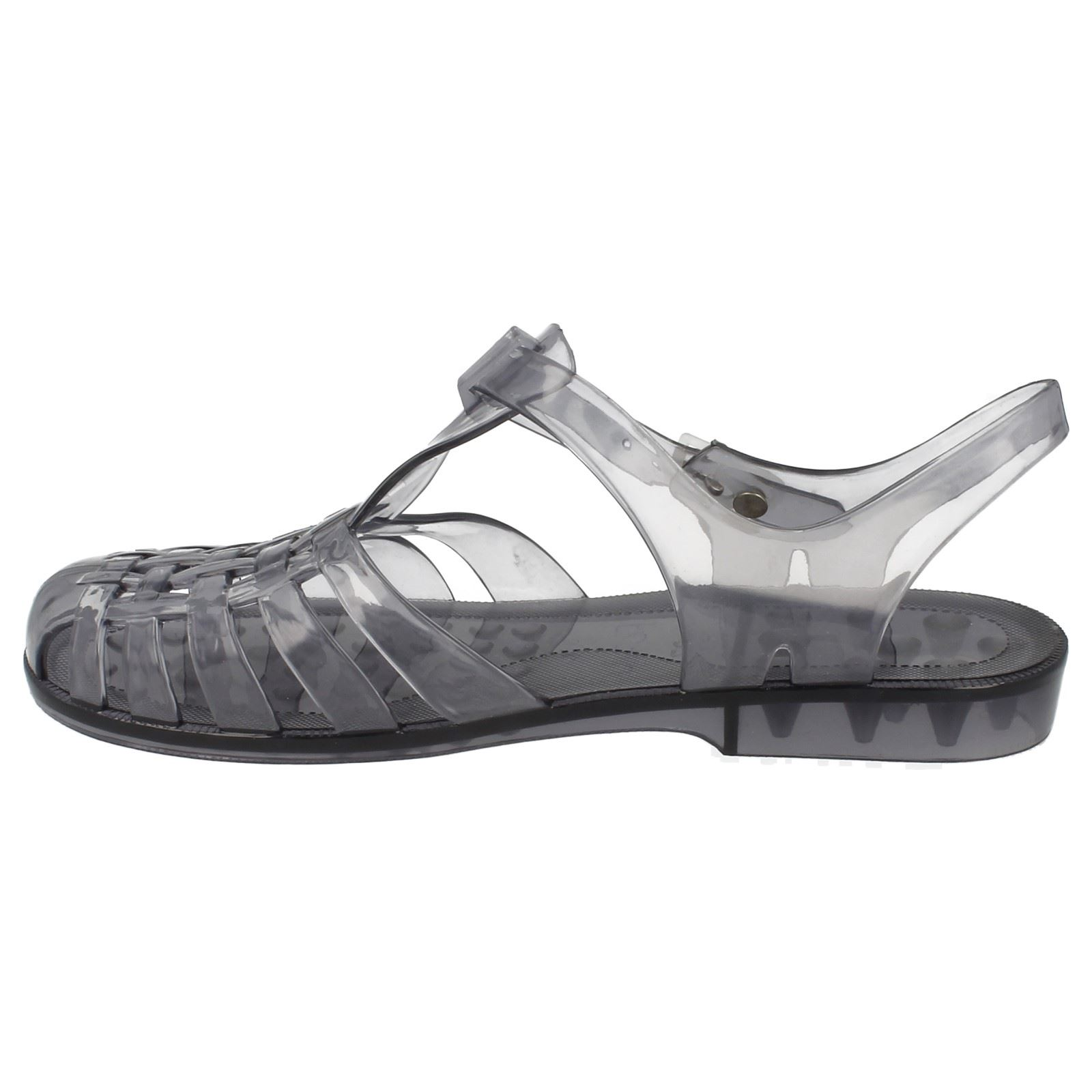 Ladies Spot On Transparent Jelly /'Shoes/'