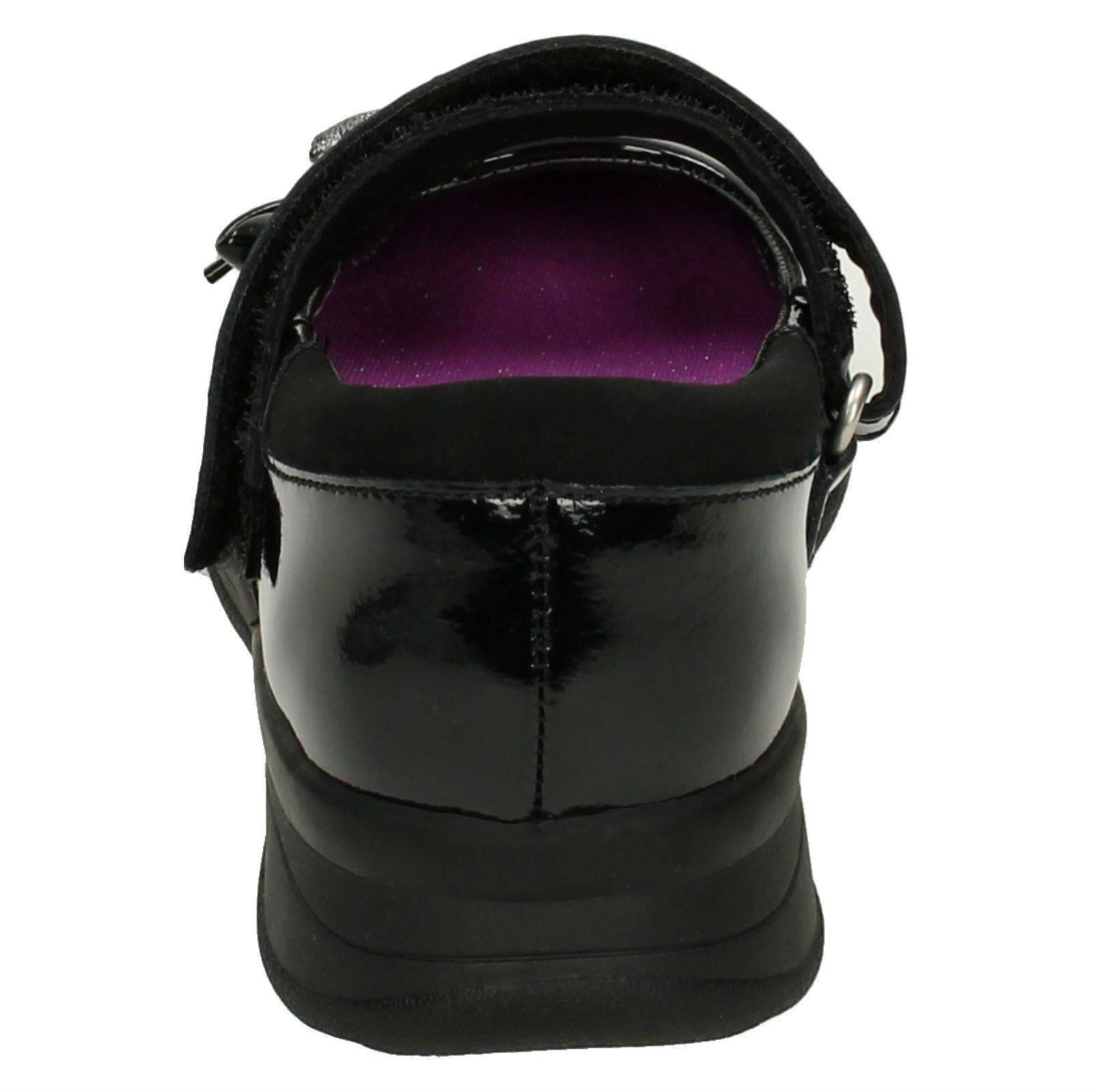 Mariel Wish Inf Gloforms By Clarks Girls Bow Trim School Shoes