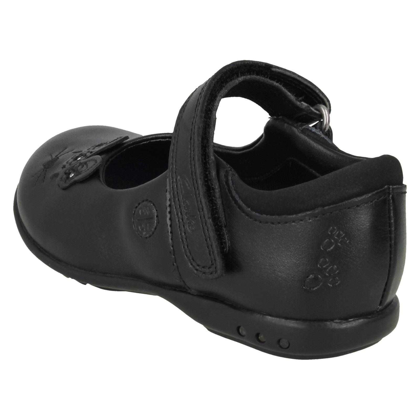 Girls Clarks Hook /& Loop School Shoes with Lights Trixi Run