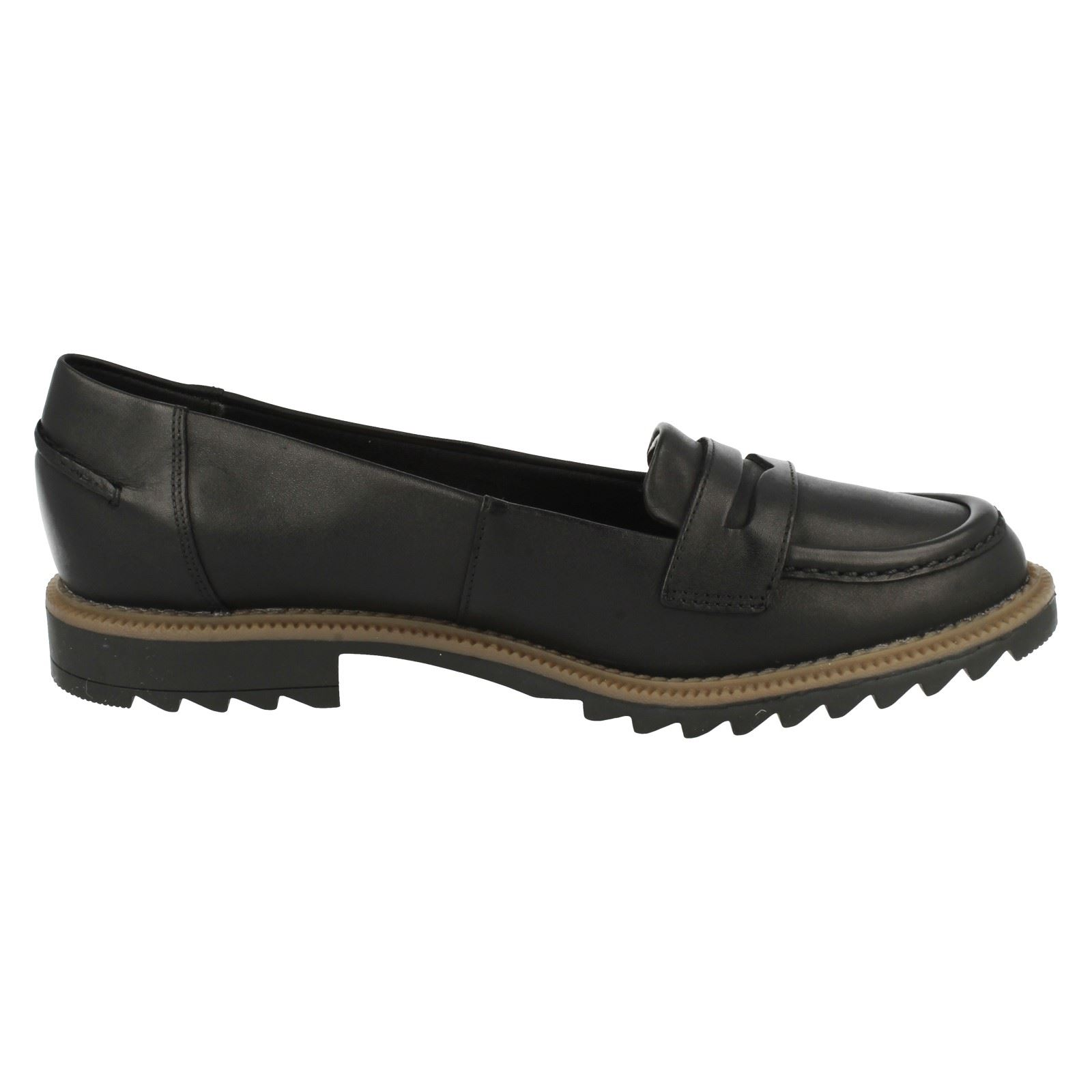 Ladies Clarks Smart Slip On Soft Leather Loafers Griffin Milly