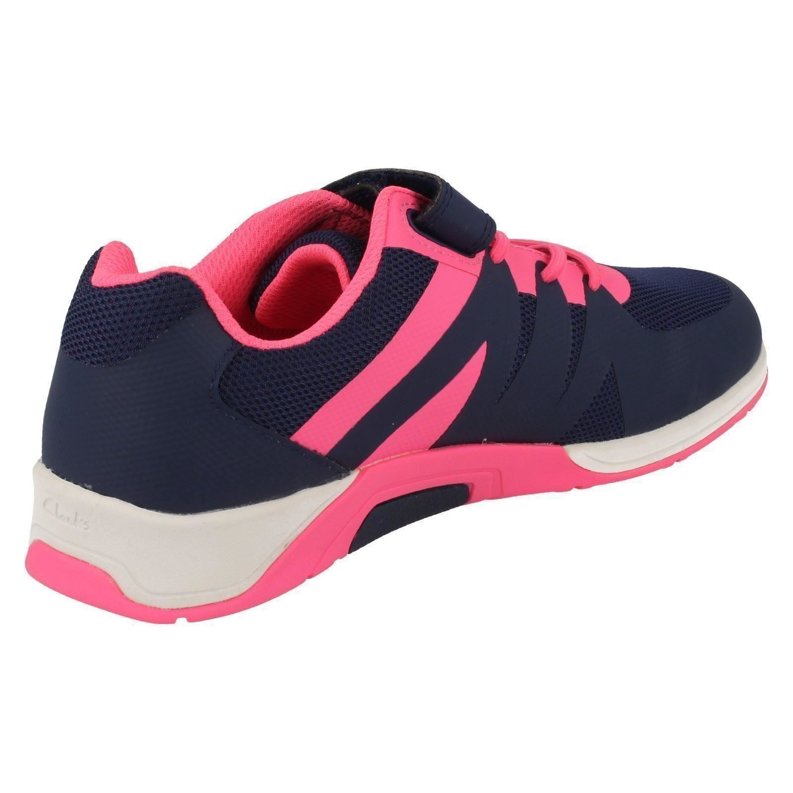 Infant Senior Girls Clarks Casual Trainers Trace Star