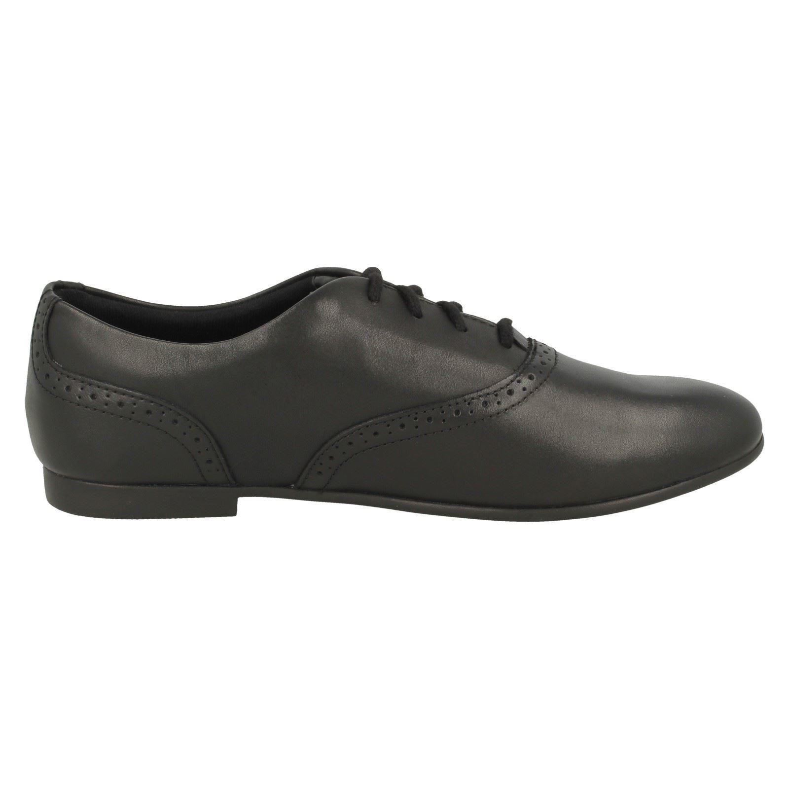 Clarks Girls Lace Up Brogue School Shoes /'Jules Walk/'