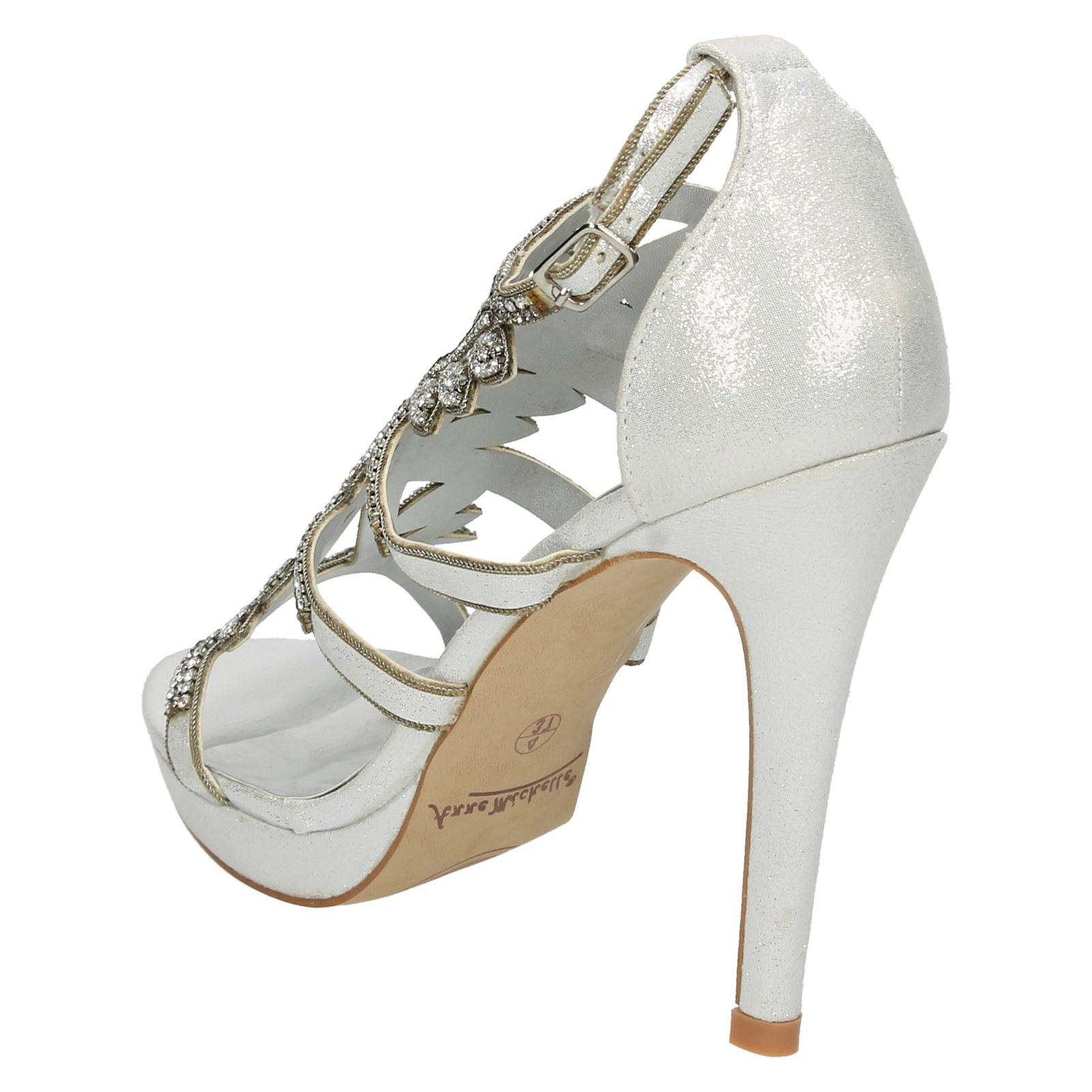 Ladies Anne Michelle Diamante Trim Party Heels