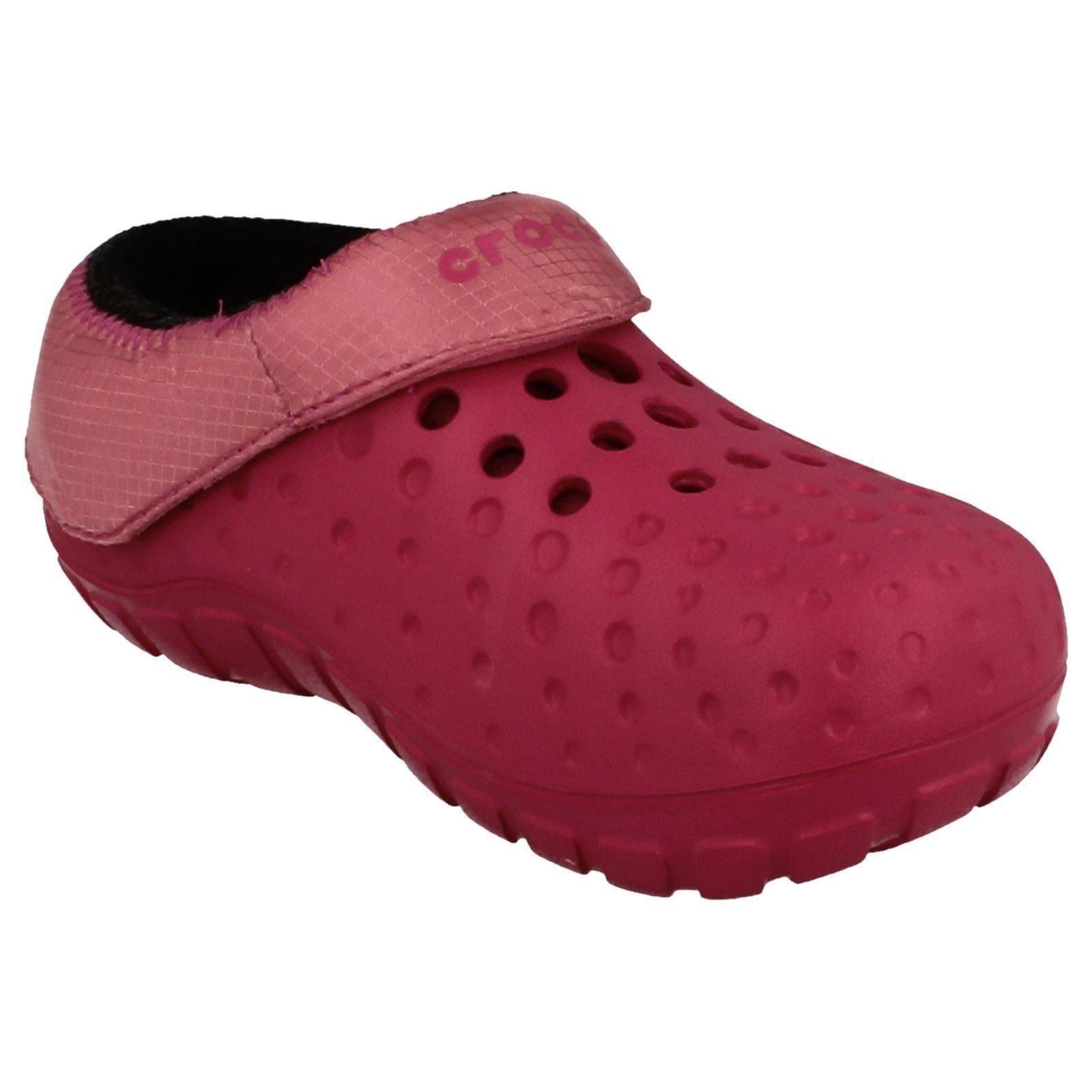 Girls Crocs Slip On Mules /'Tembo Polartec Kids/'