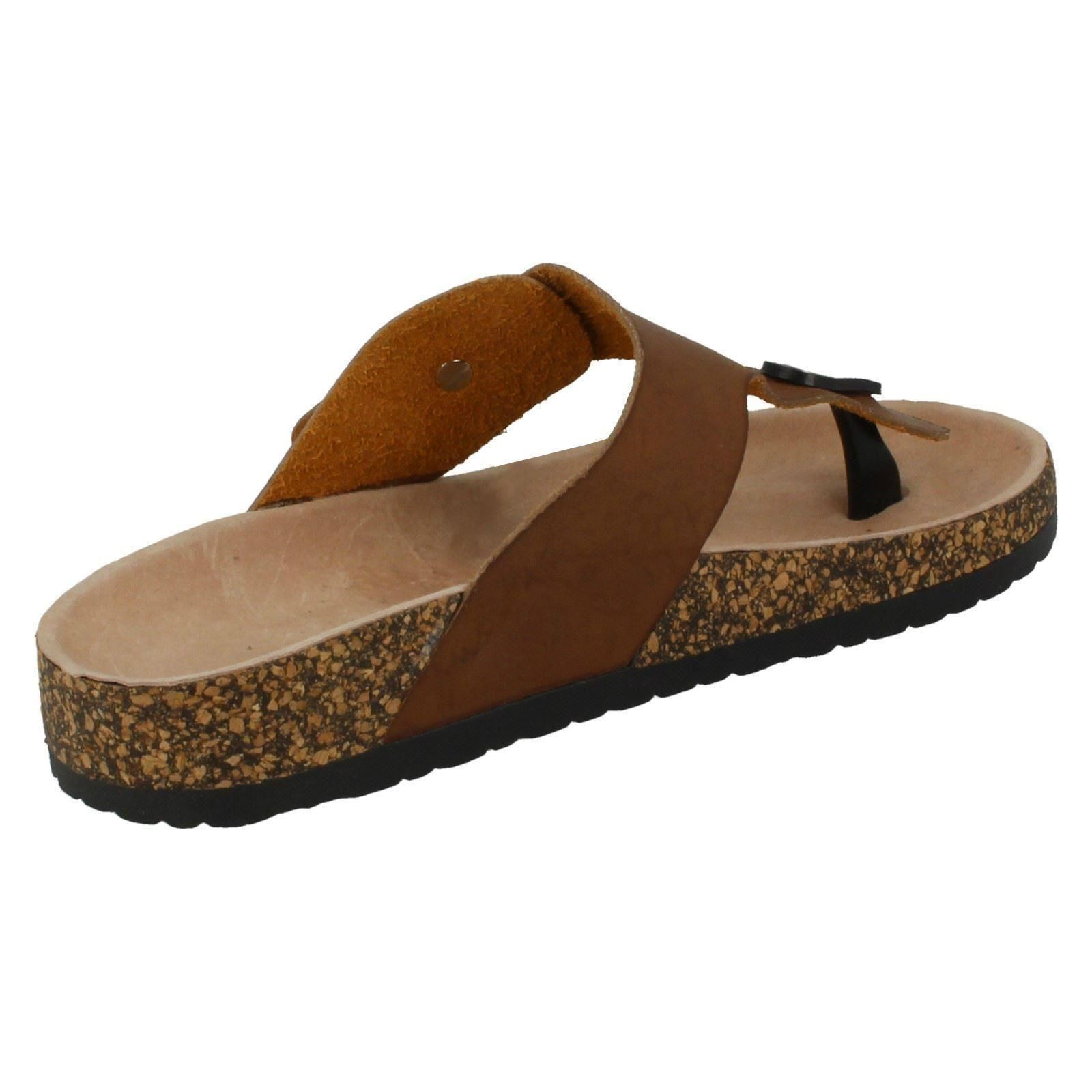 Womens Spot On Toepost /'Sandals/'