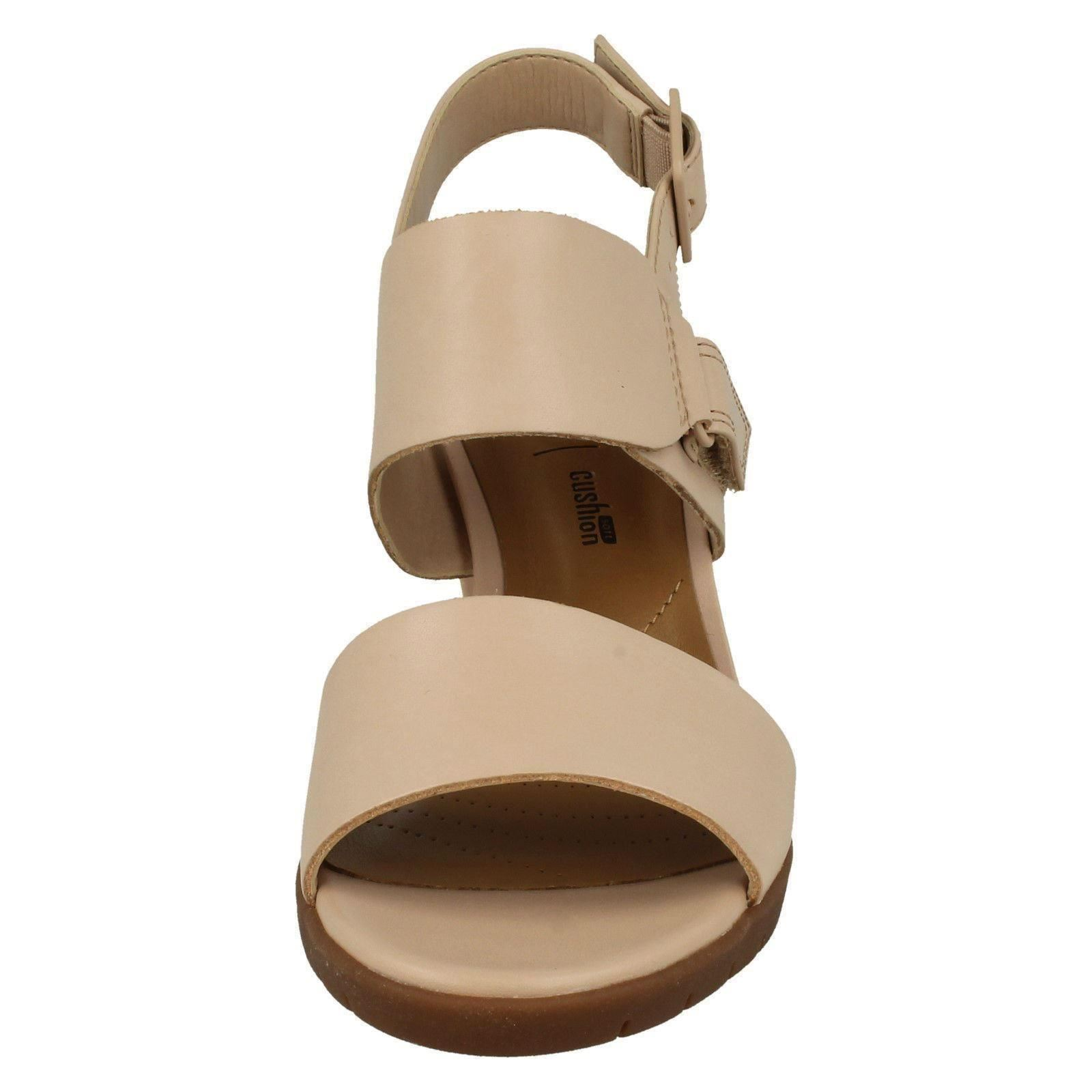 Ladies Clarks Heeled Slingback Sandals Kurtley Shine