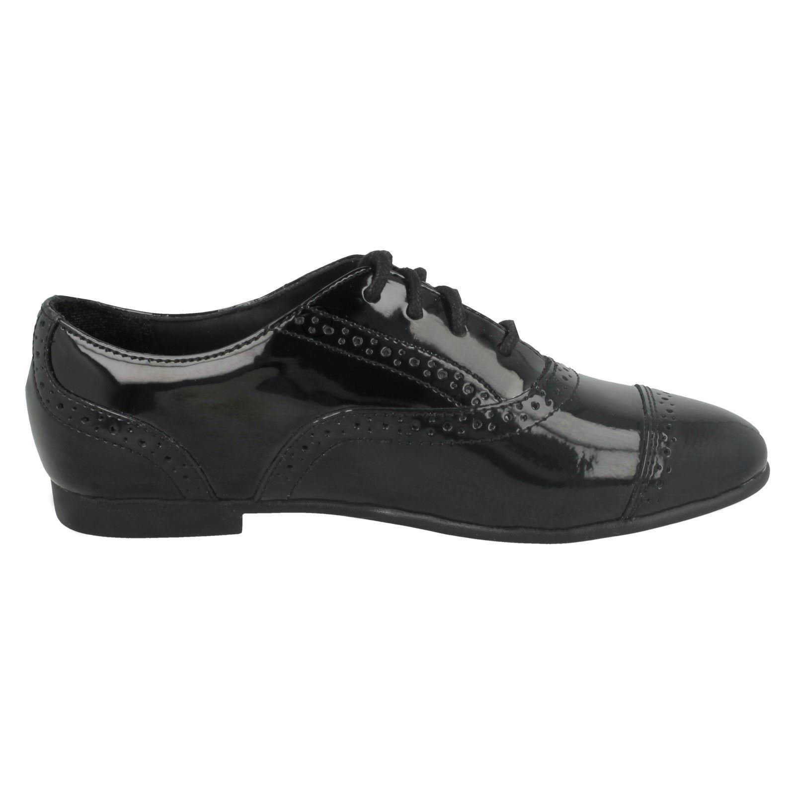 Girls Clarks Selsey Cool Brogue Style School Shoes