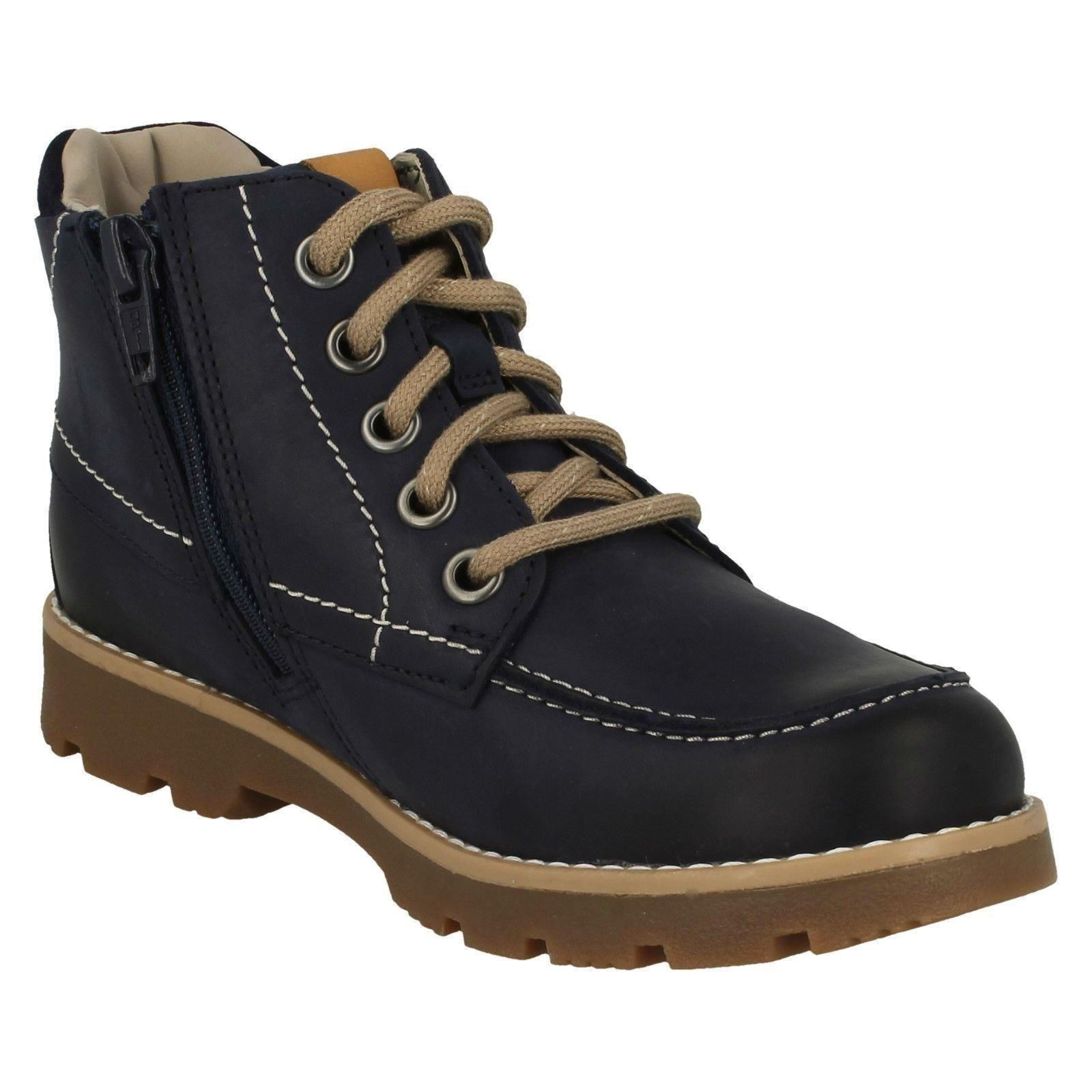 Boys Clarks Casual Lace-Up Detailed Boots Comet Moon