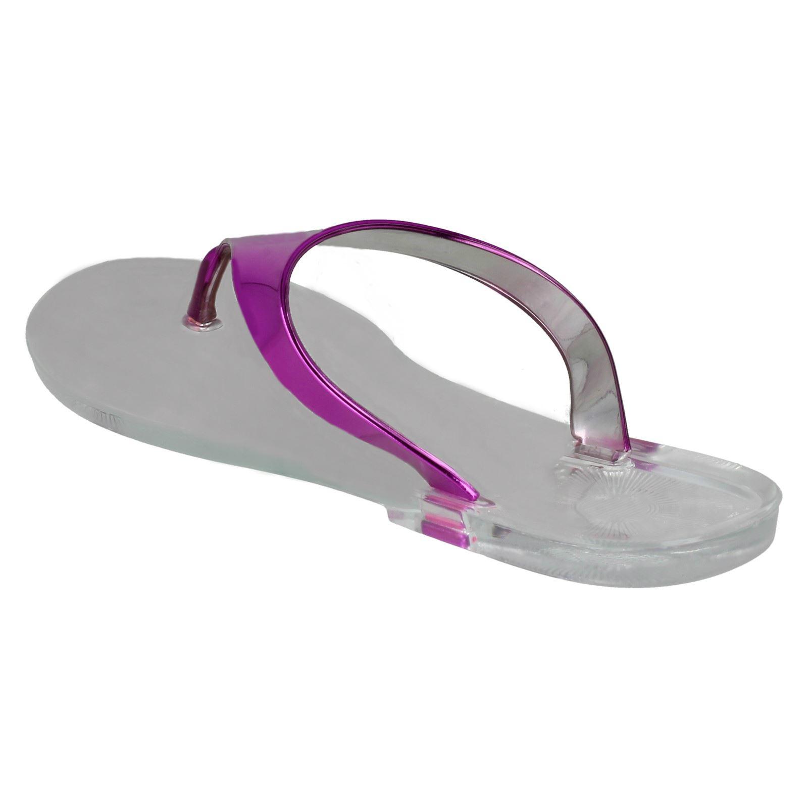 Ladies Spot On Jelly Toepost /'Sandals/'