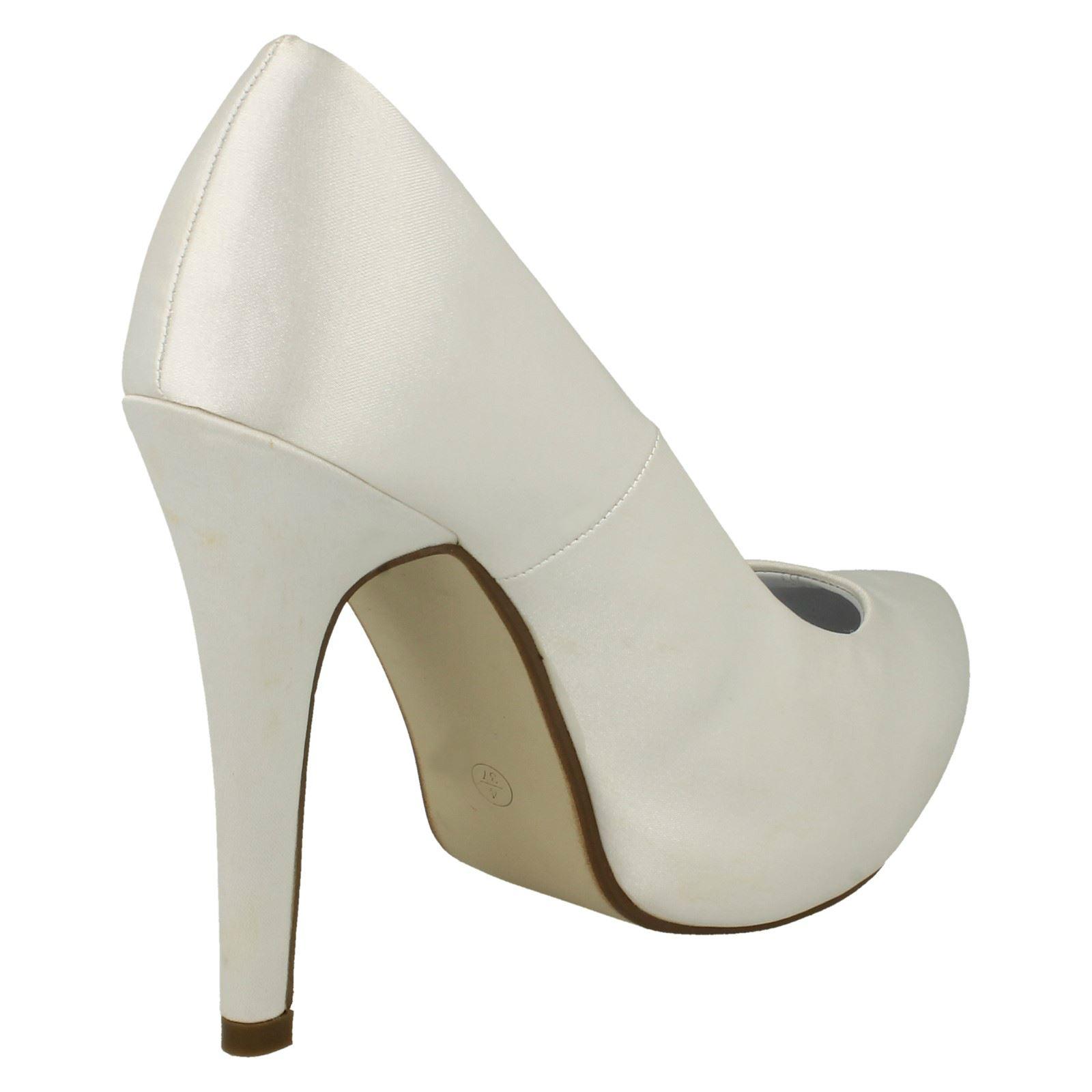 Ladies Anne Michelle Platform Wedding Shoes