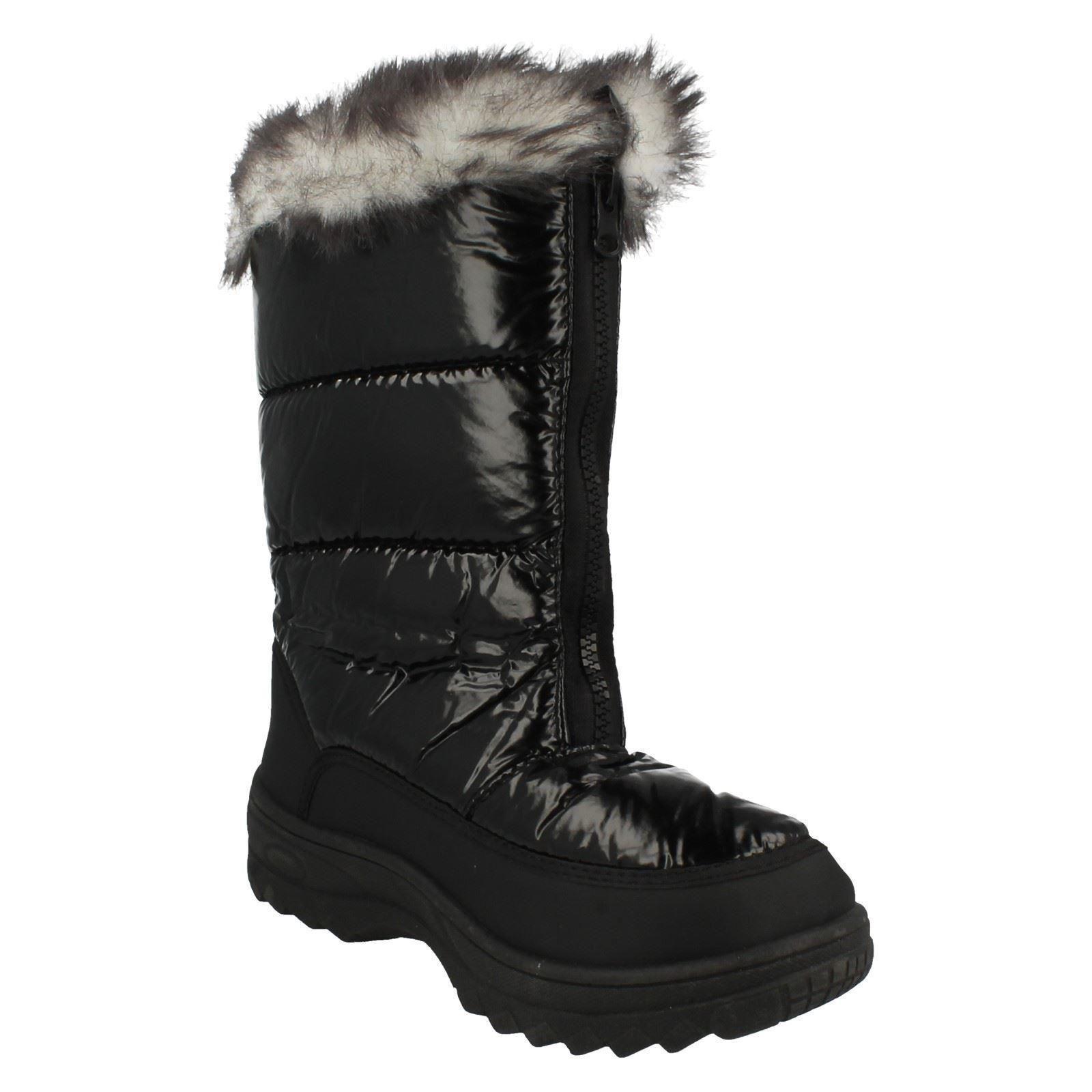 """Mesdames réflexe fourrure surmonté de Bottes de neige /""""F4R334/'"""