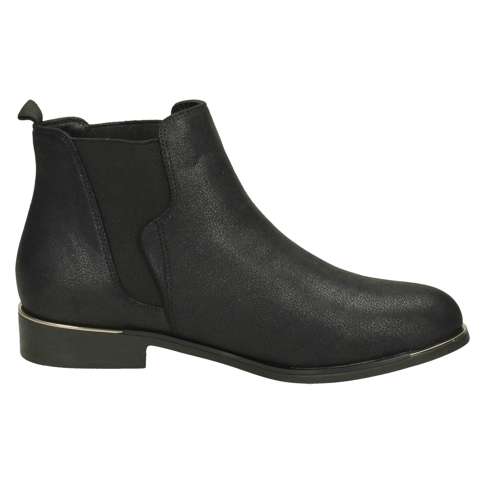 Ladies Down To Earth Low Heel Ankle Boots F50957