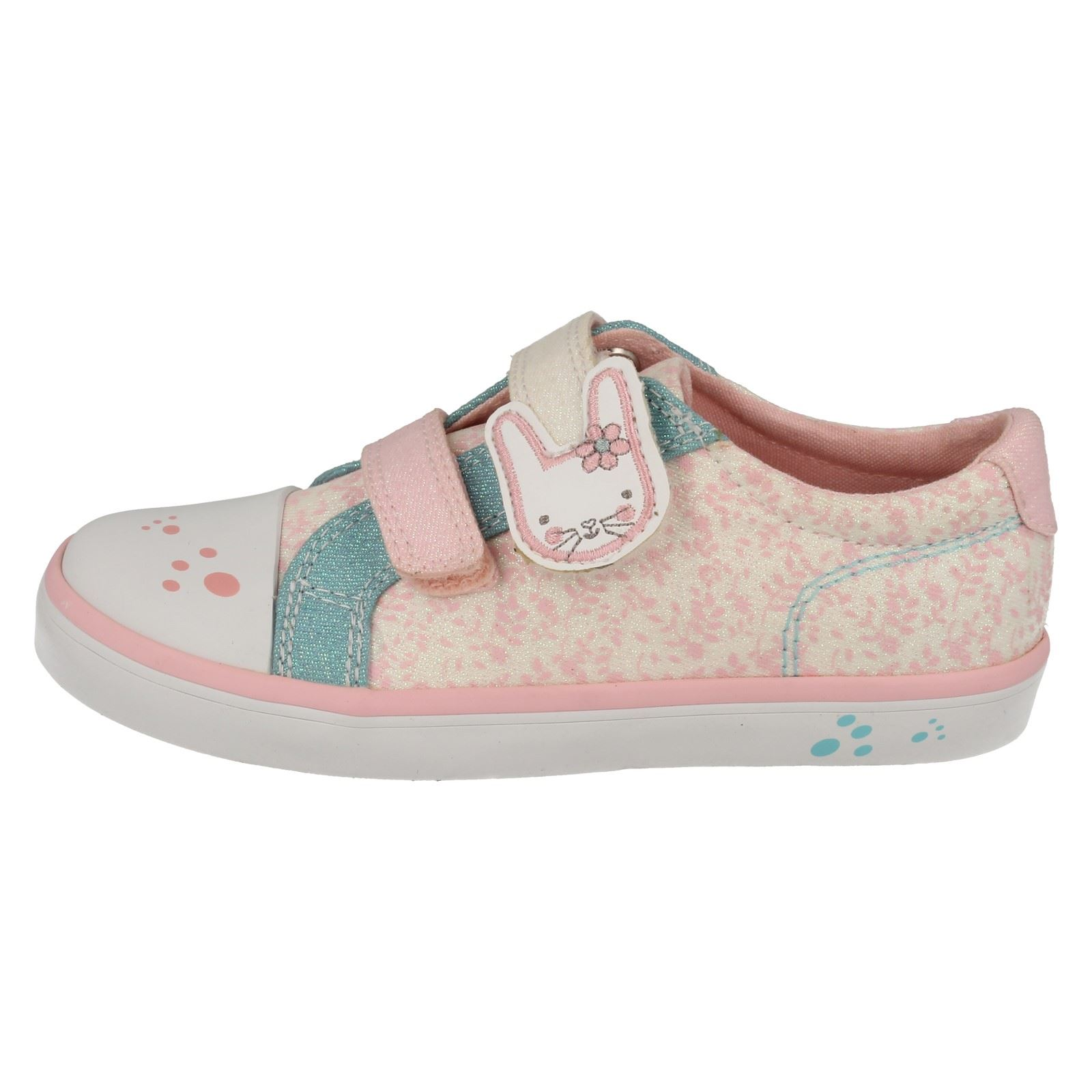 Girls Clarks Casual Canvas Shoes Gracie Bea