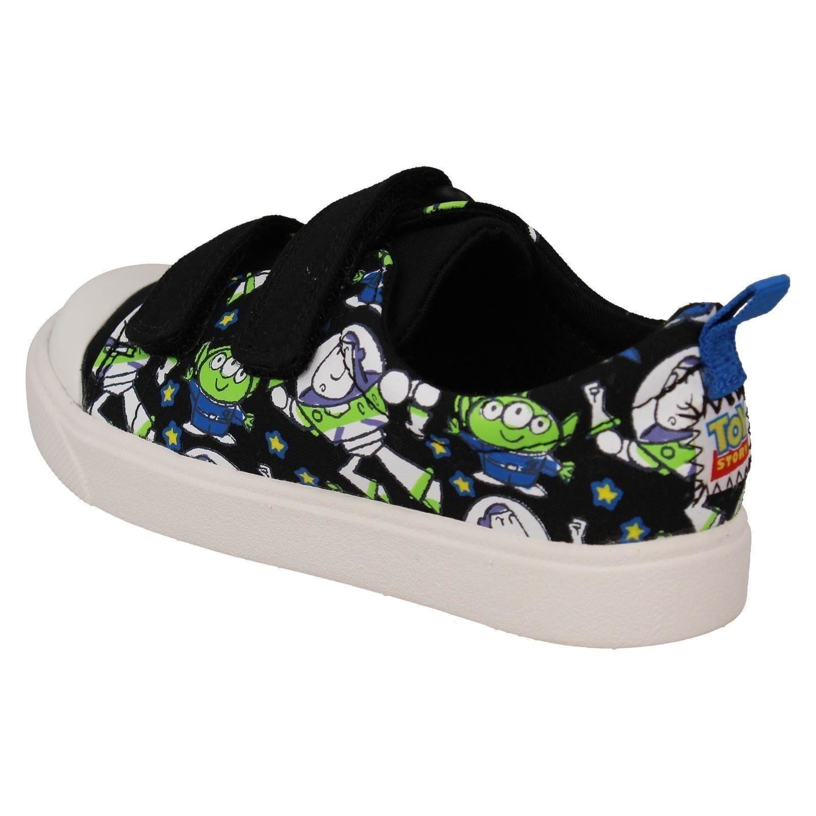 Boys Clarks Canvas Toy Story Print Shoes City Team