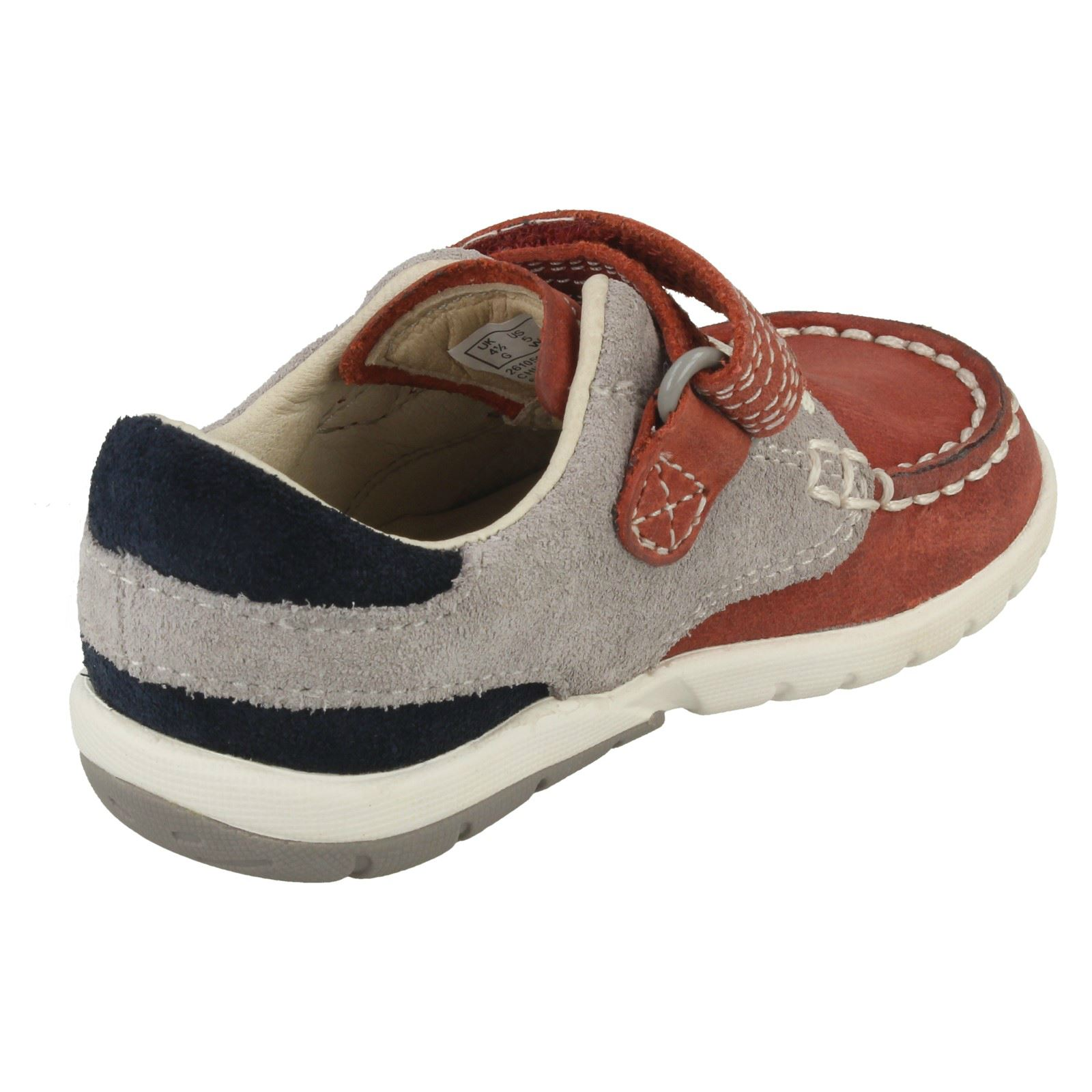 Boys Clarks First Shoes /'Softly Flag/'