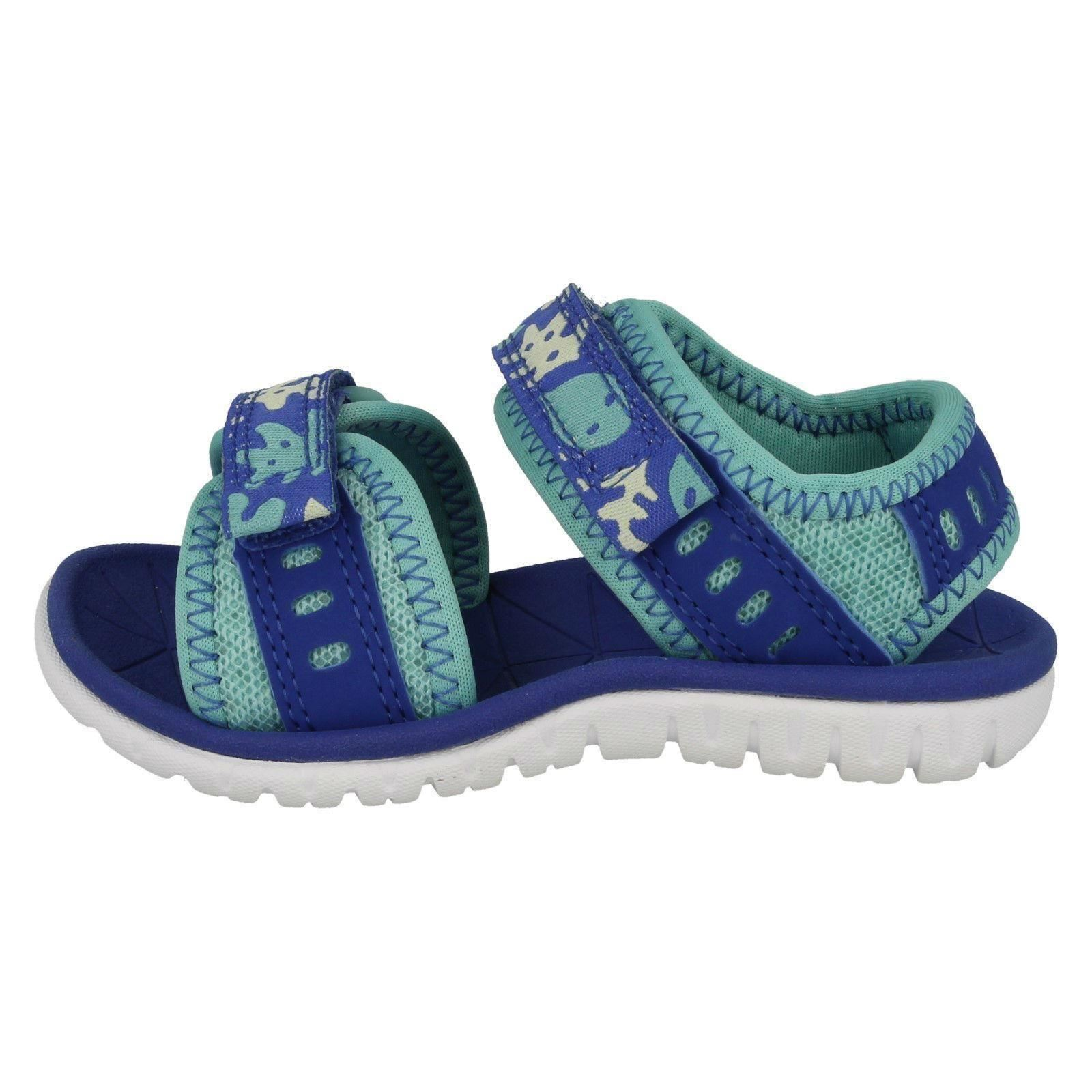 Girls Clarks Casual Strapped Sandals Surfing Moon *
